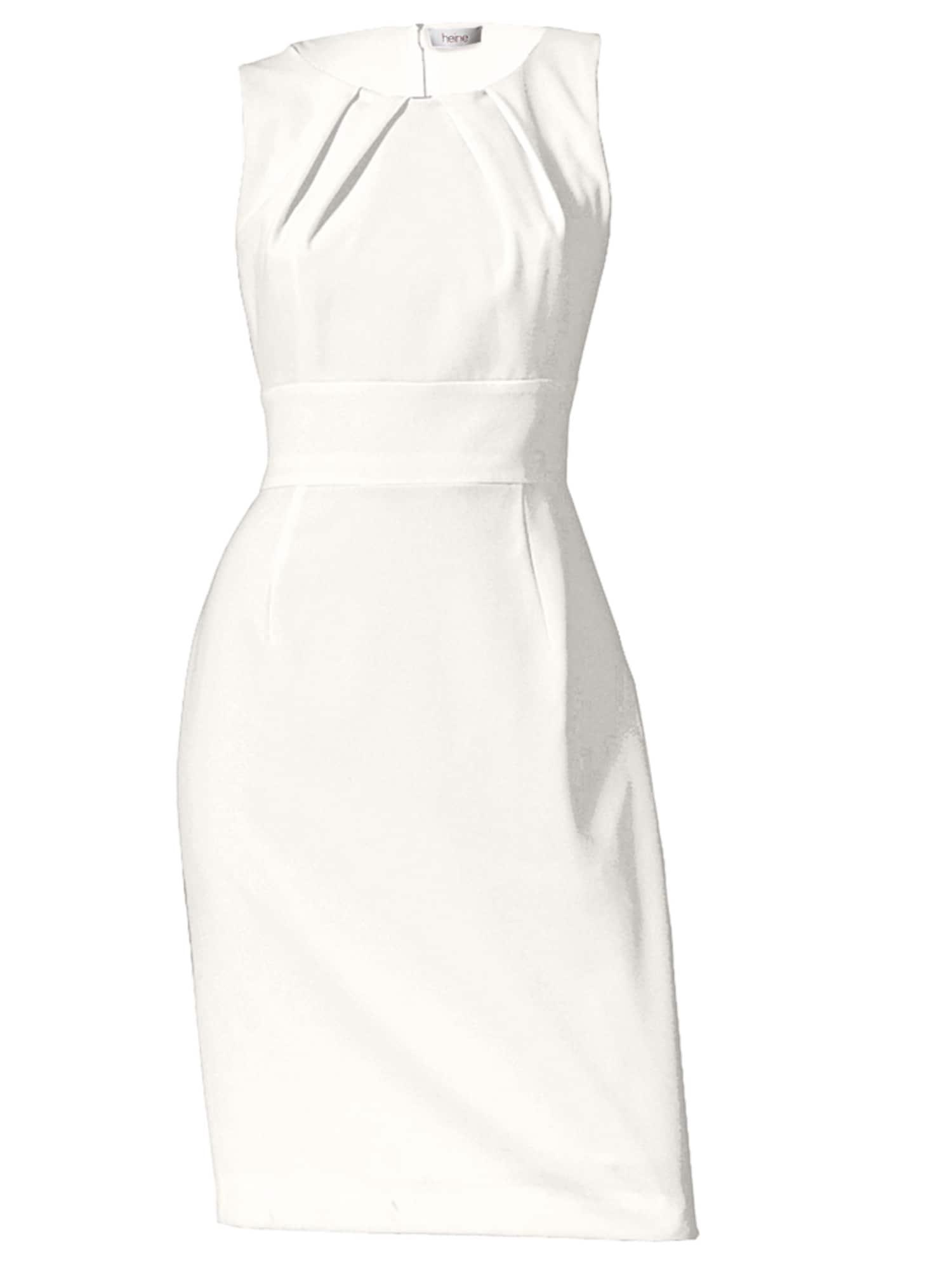 Pouzdrové šaty bílá Heine