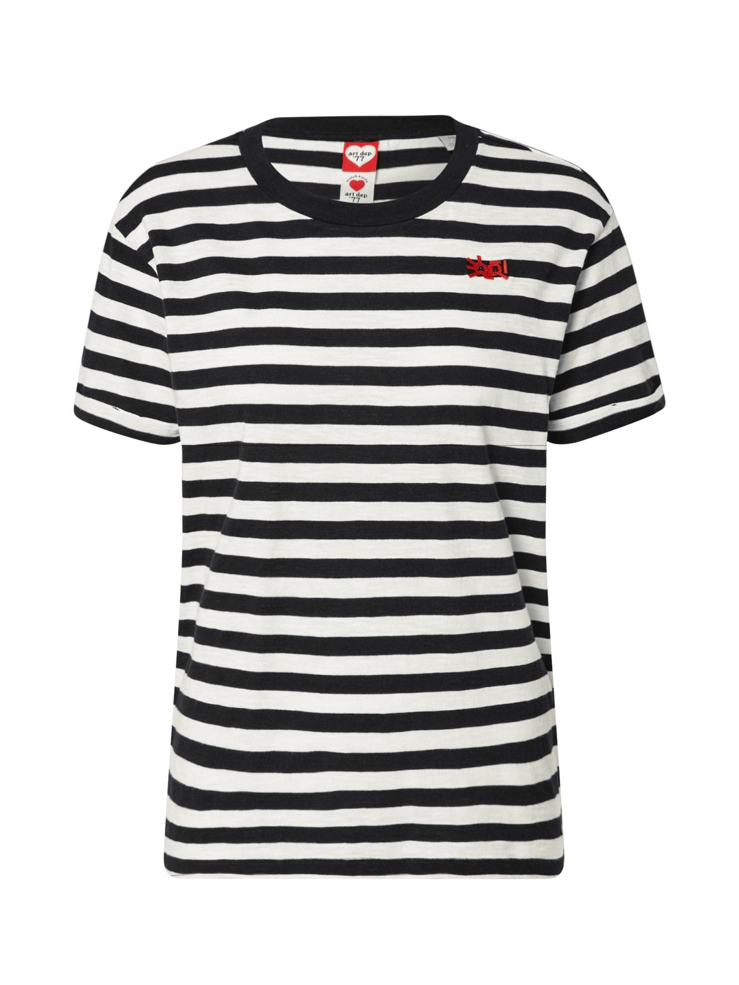 SCOTCH & SODA Tričko  bílá / námořnická modř