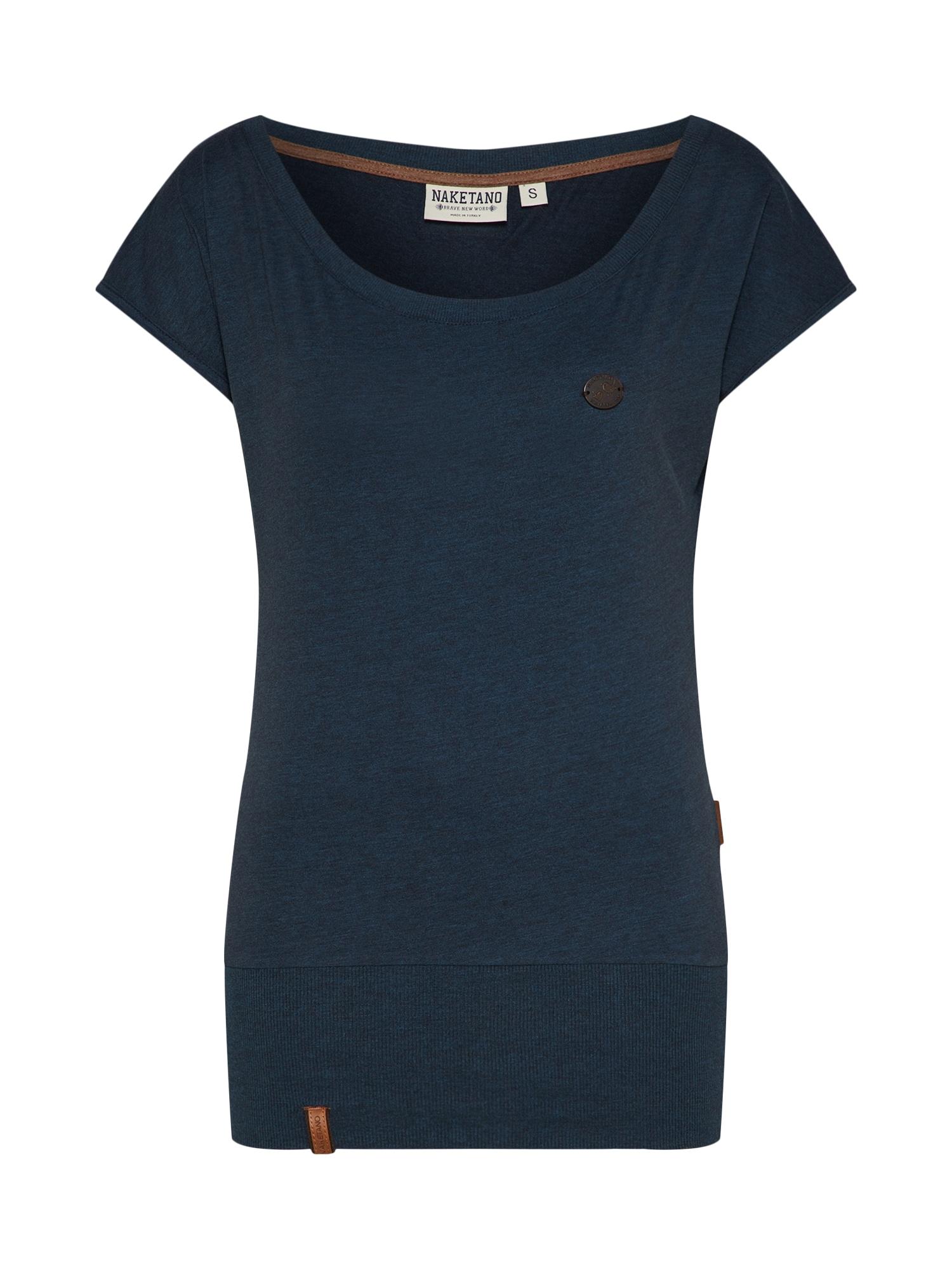 Naketano, Dames Shirt 'Dirty Wolle', donkerblauw