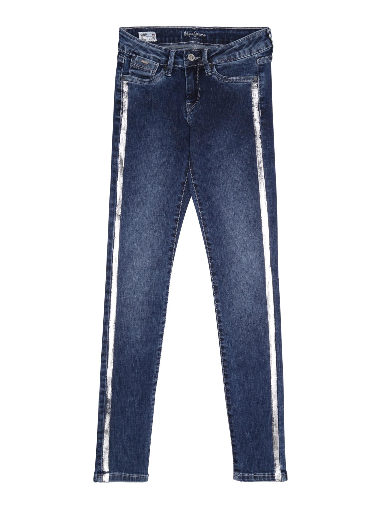 Pepe Jeans Meisjes Jeans PIXLETTE SPARKLE blauw denim zilver