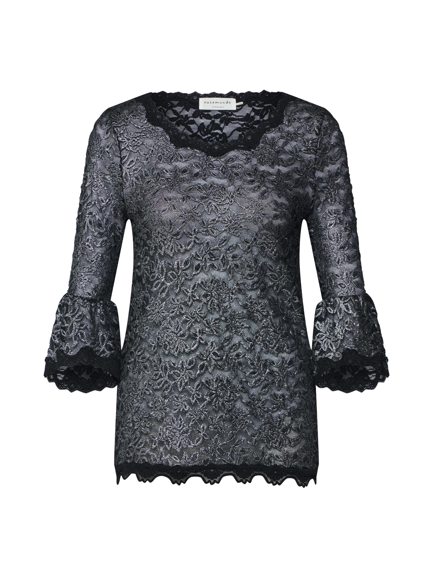 Tričko černá stříbrná Rosemunde