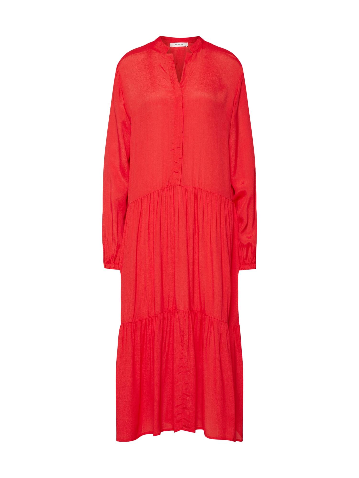 Košilové šaty Carol Miram červená MOSS COPENHAGEN
