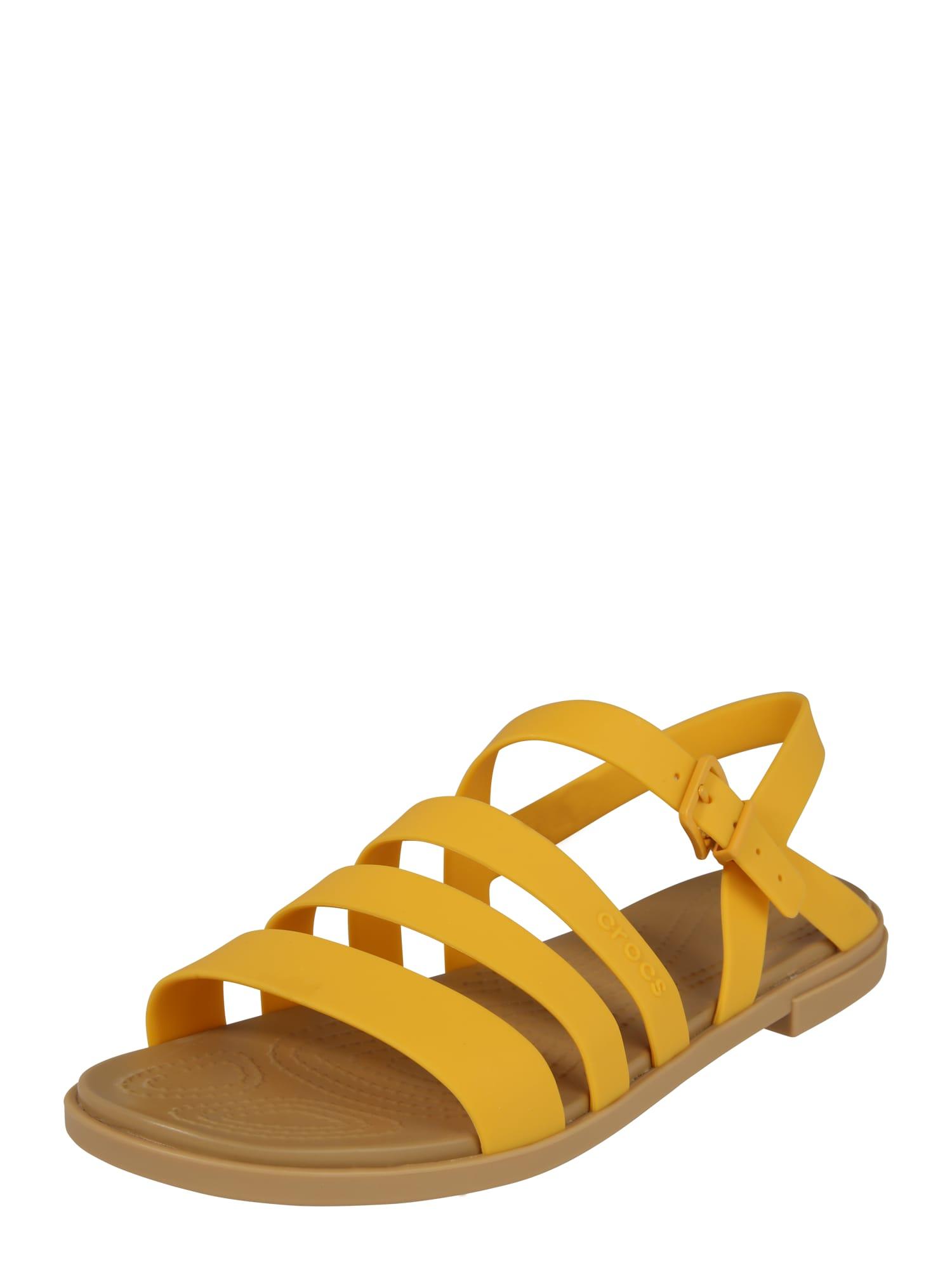 Crocs Remienkové sandále 'Tulum'  hnedé / žlté