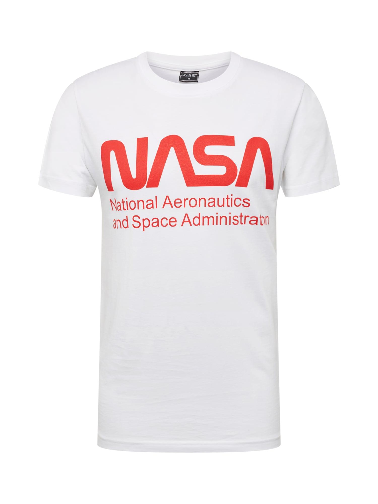 Tričko NASA Wormlogo Tee červená bílá Mister Tee