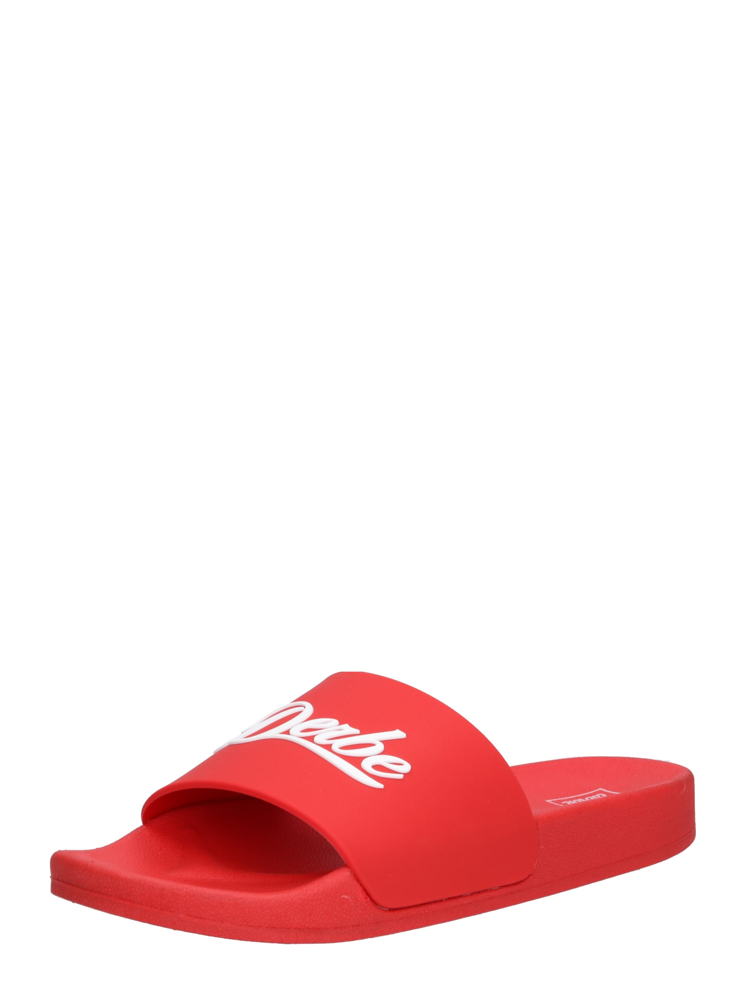 Pantofle Buddellette červená bílá Derbe
