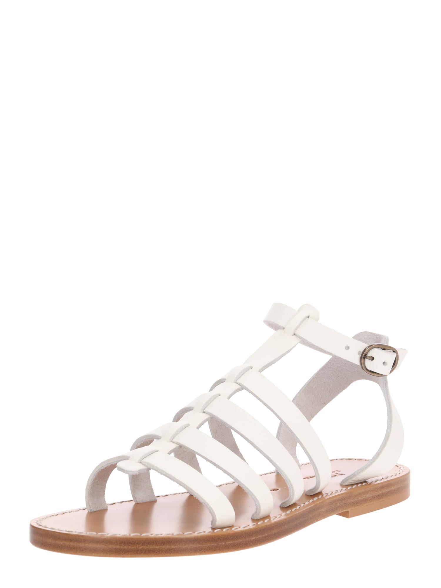 Páskové sandály Julianne hnědá bílá POLO RALPH LAUREN