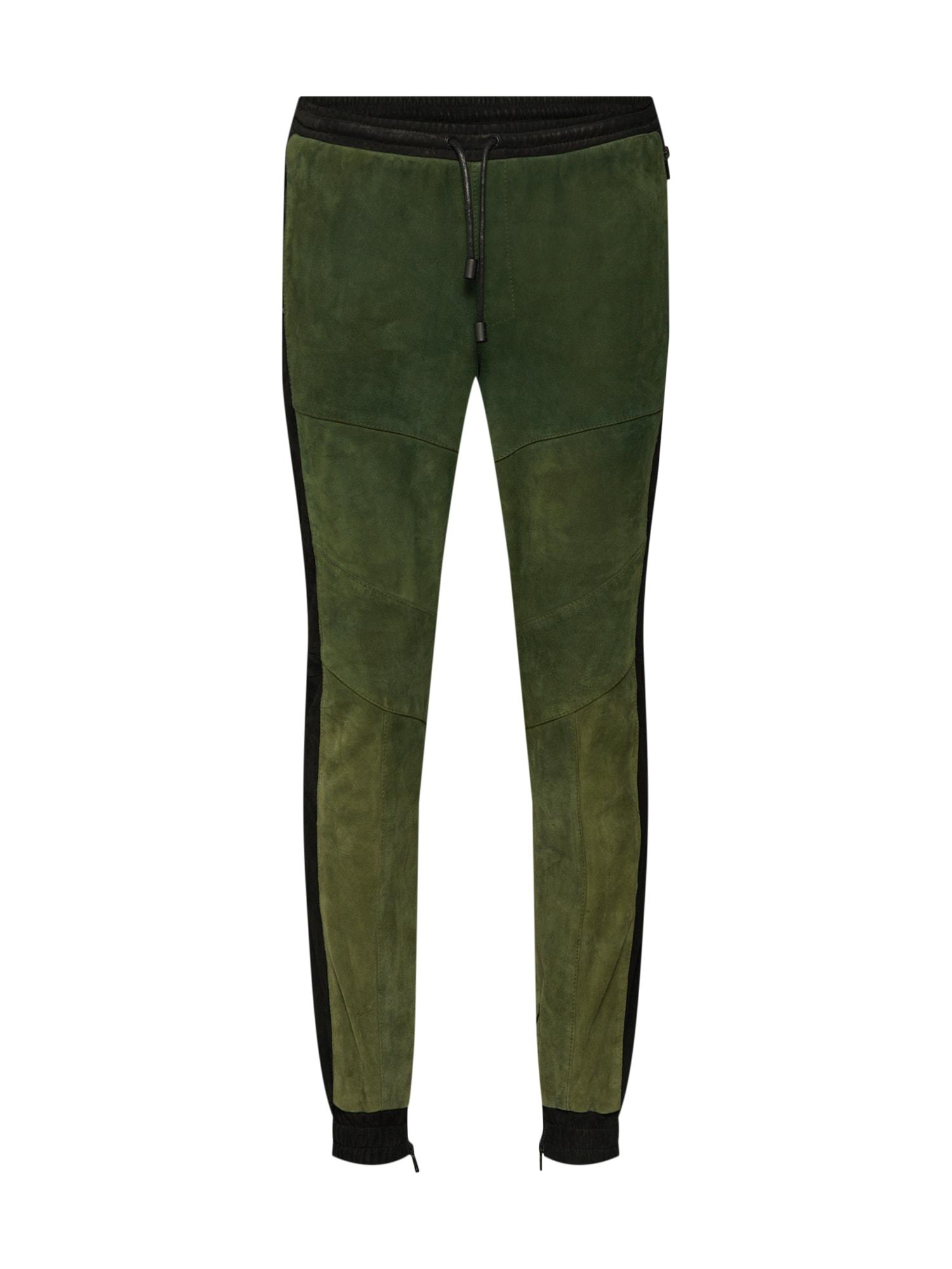 Kalhoty Marko zelená černá Tigha