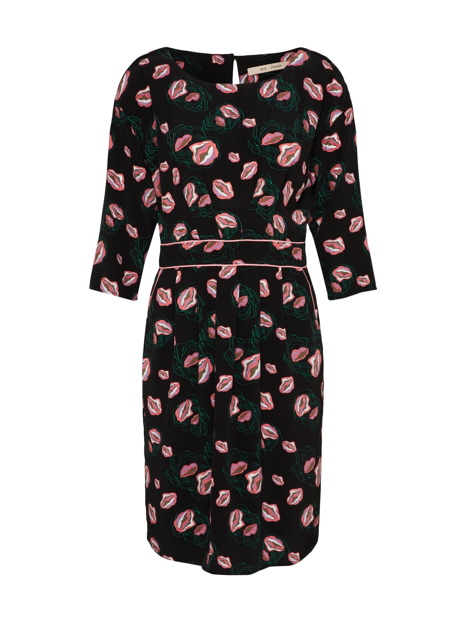 Koktejlové šaty Mariee pink černá RUE De FEMME