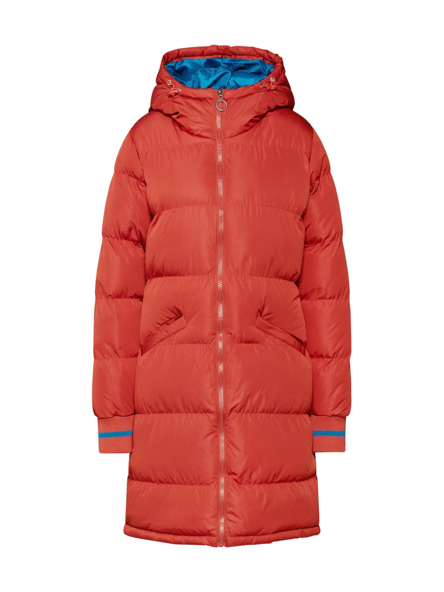 Zimní kabát tmavě oranžová GLAMOROUS
