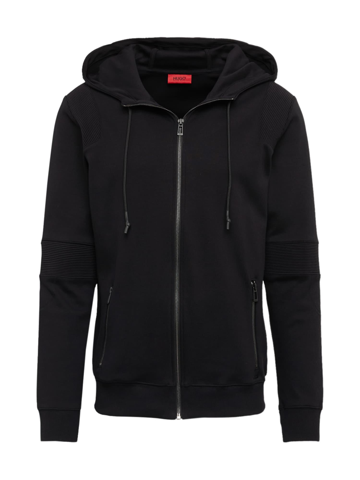 HUGO Mikina s kapucí 'Durat'  černá