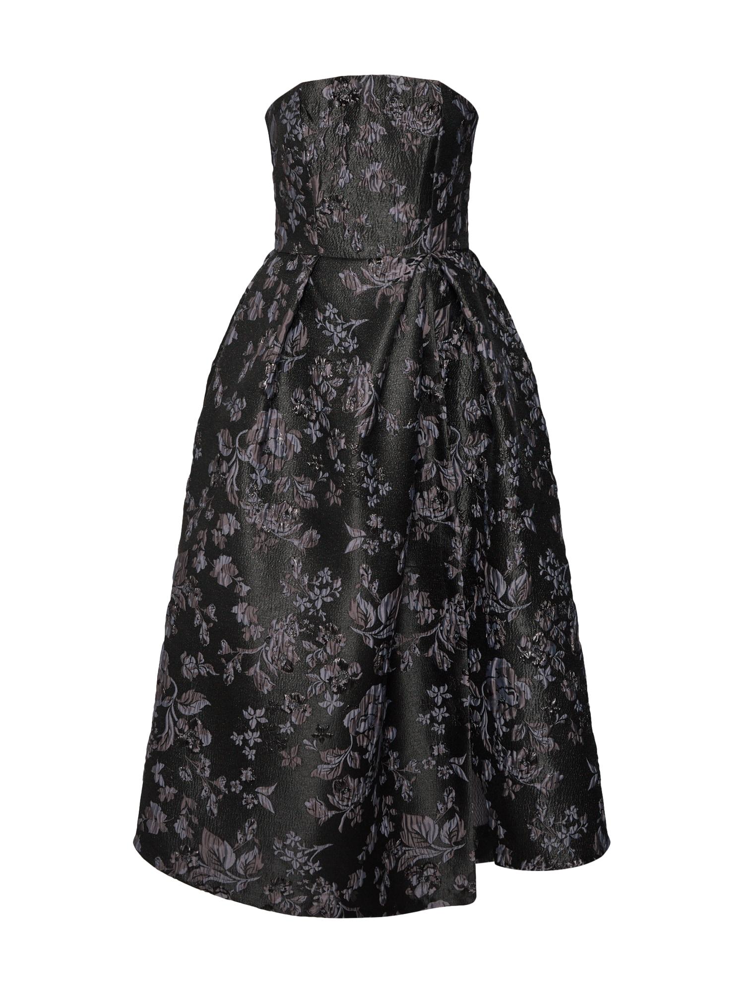 Společenské šaty Closet Gold Strapless Dress tmavě šedá Closet London