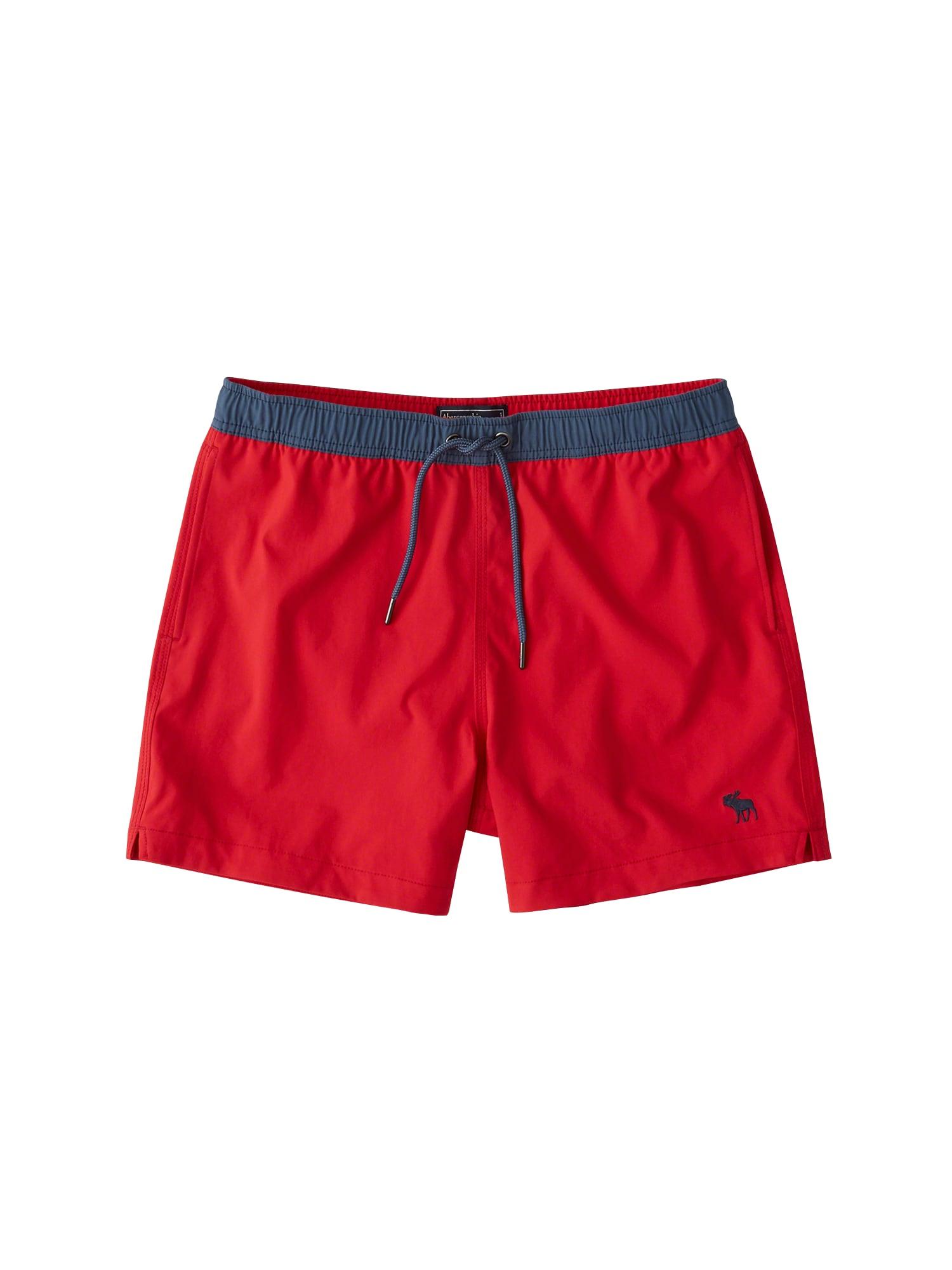 Plavecké šortky námořnická modř červená Abercrombie & Fitch