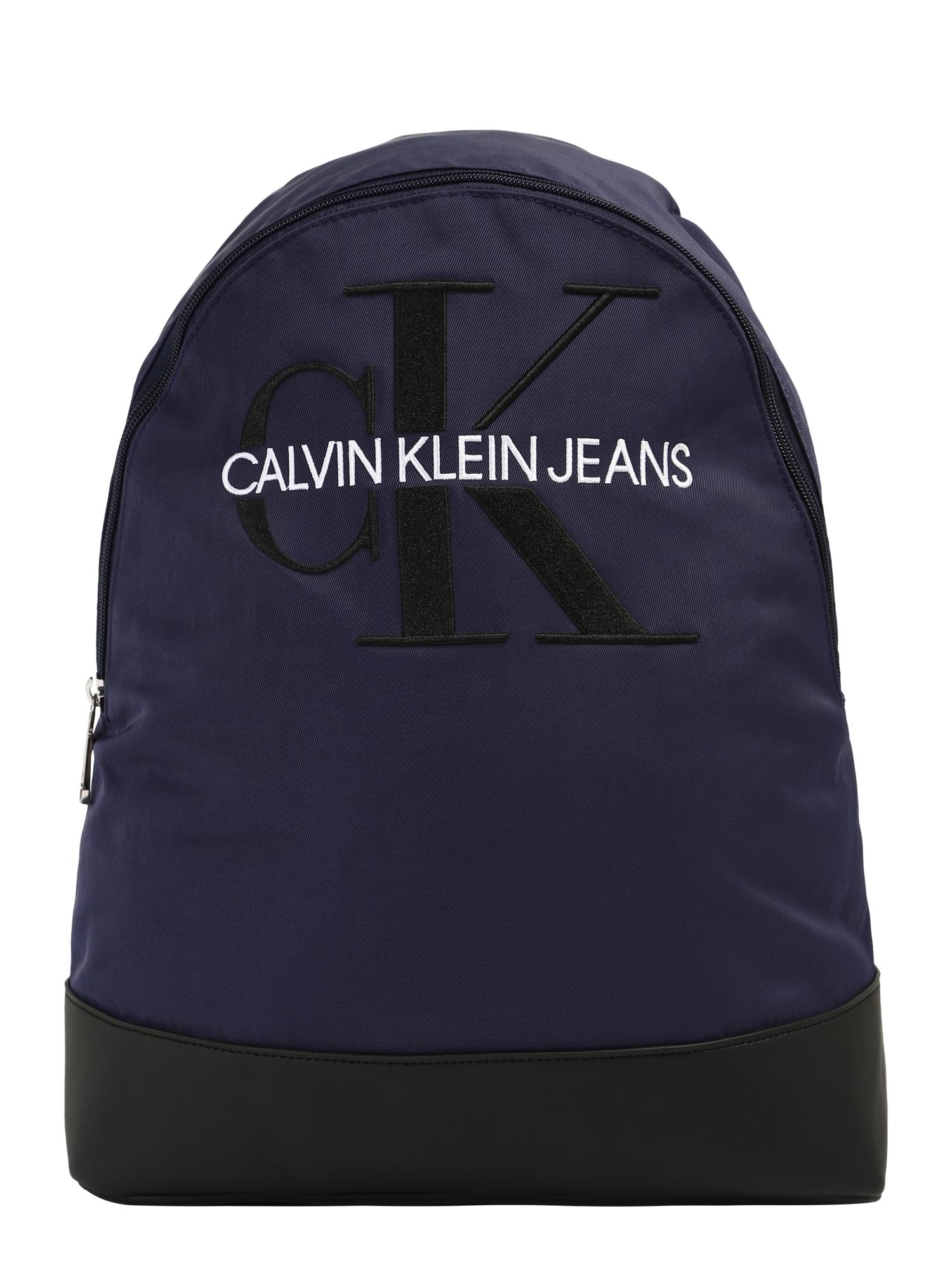 Calvin Klein Jeans Batoh 'MONOGRAM'  námořnická modř