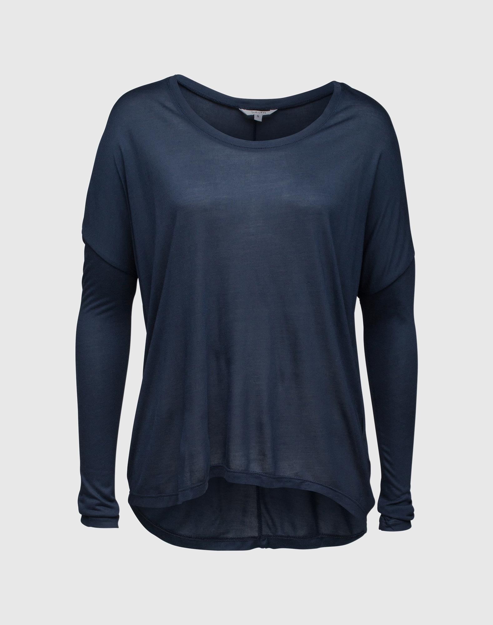 Mbym, Dames Oversized shirt 'Petrol', blauw - donkerblauw