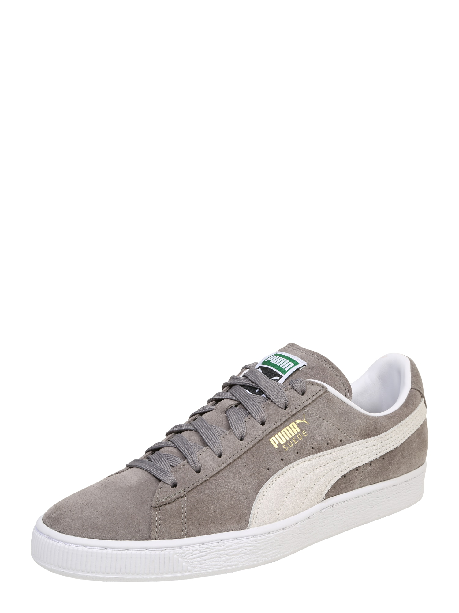 PUMA, Heren Sneakers laag 'Suede Classic', greige / wit