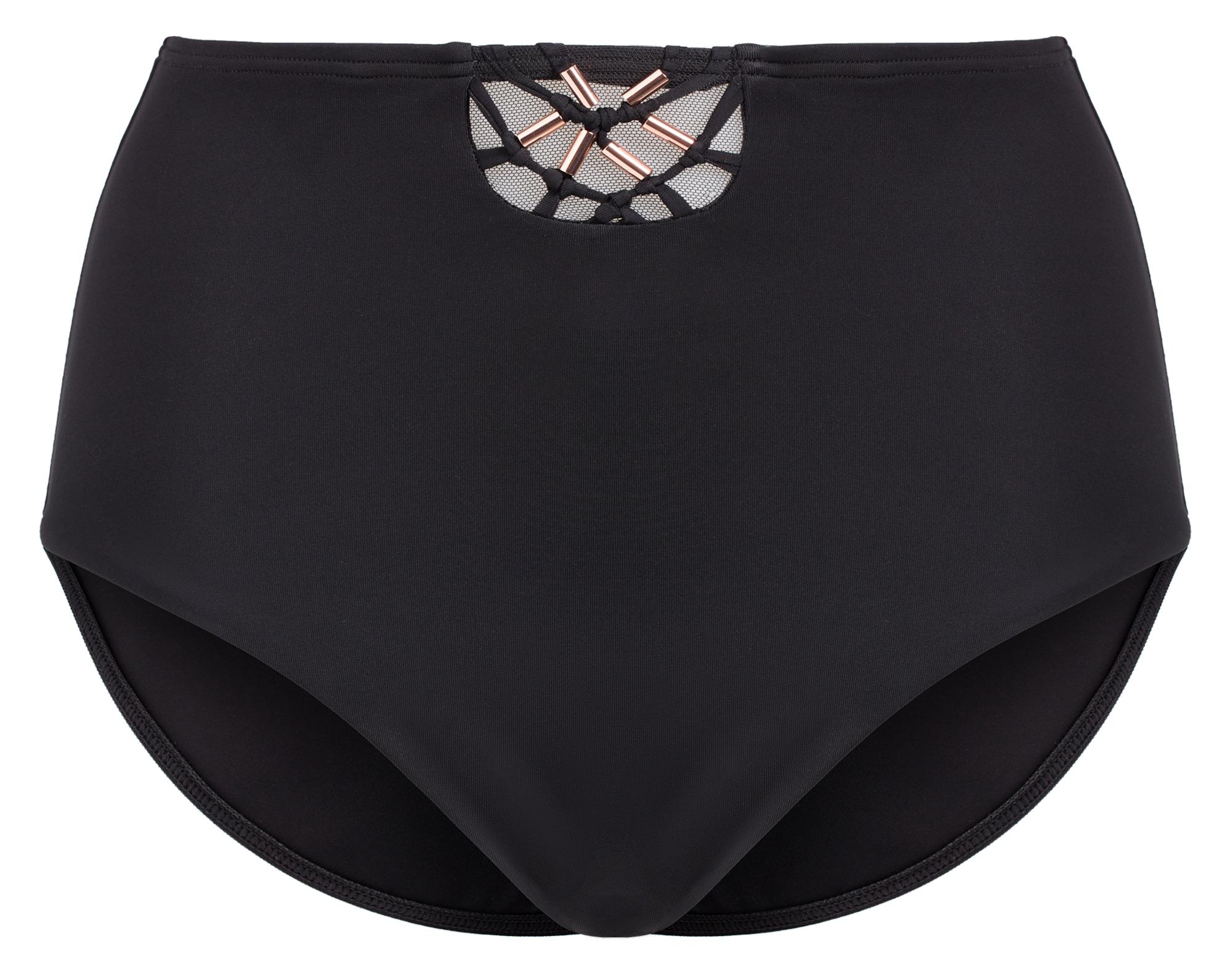 PALMERS, Dames Bikinibroek 'ROS BEACH', rose-goud / zwart