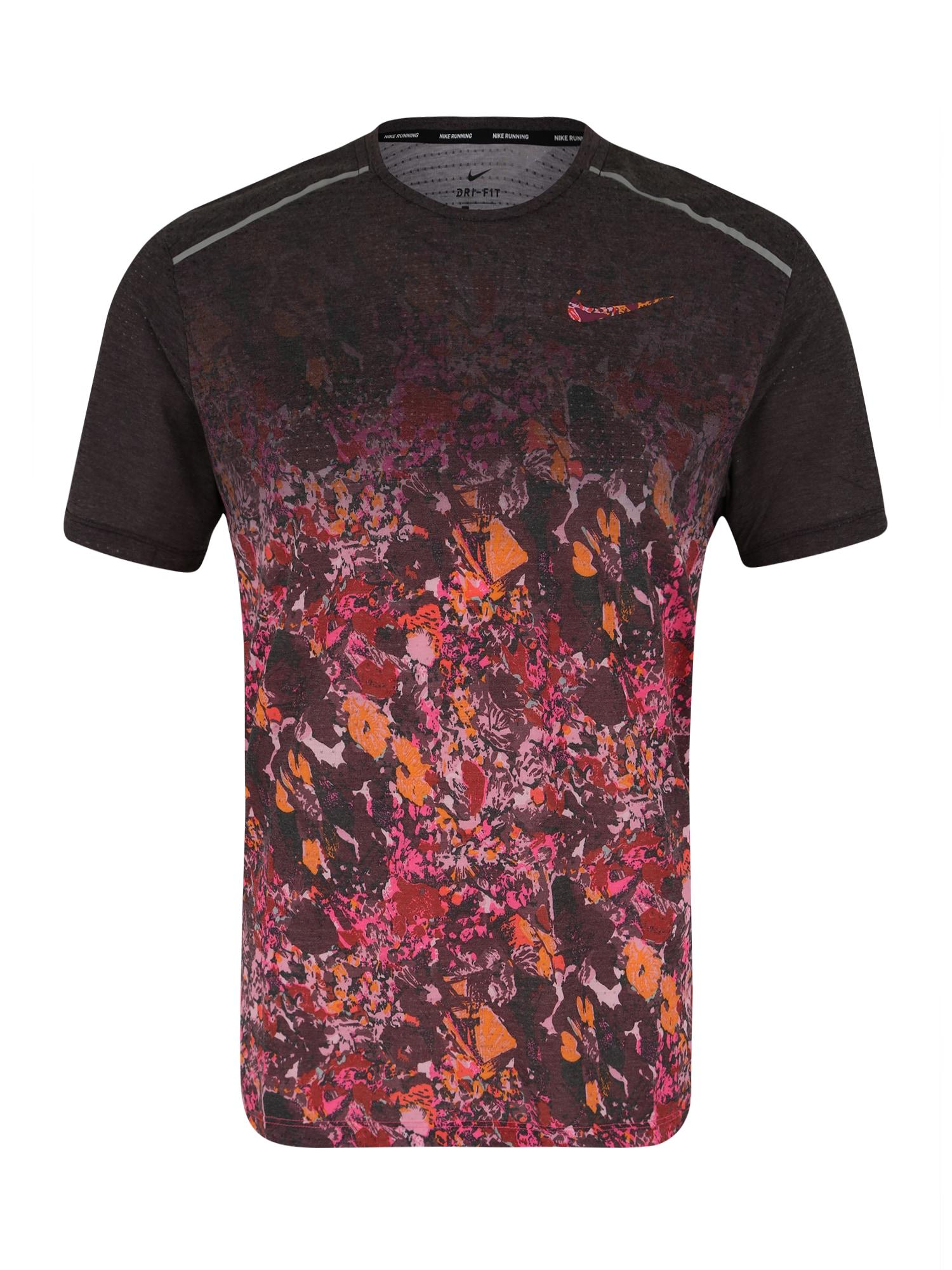 Funkční tričko oranžová pink bordó NIKE