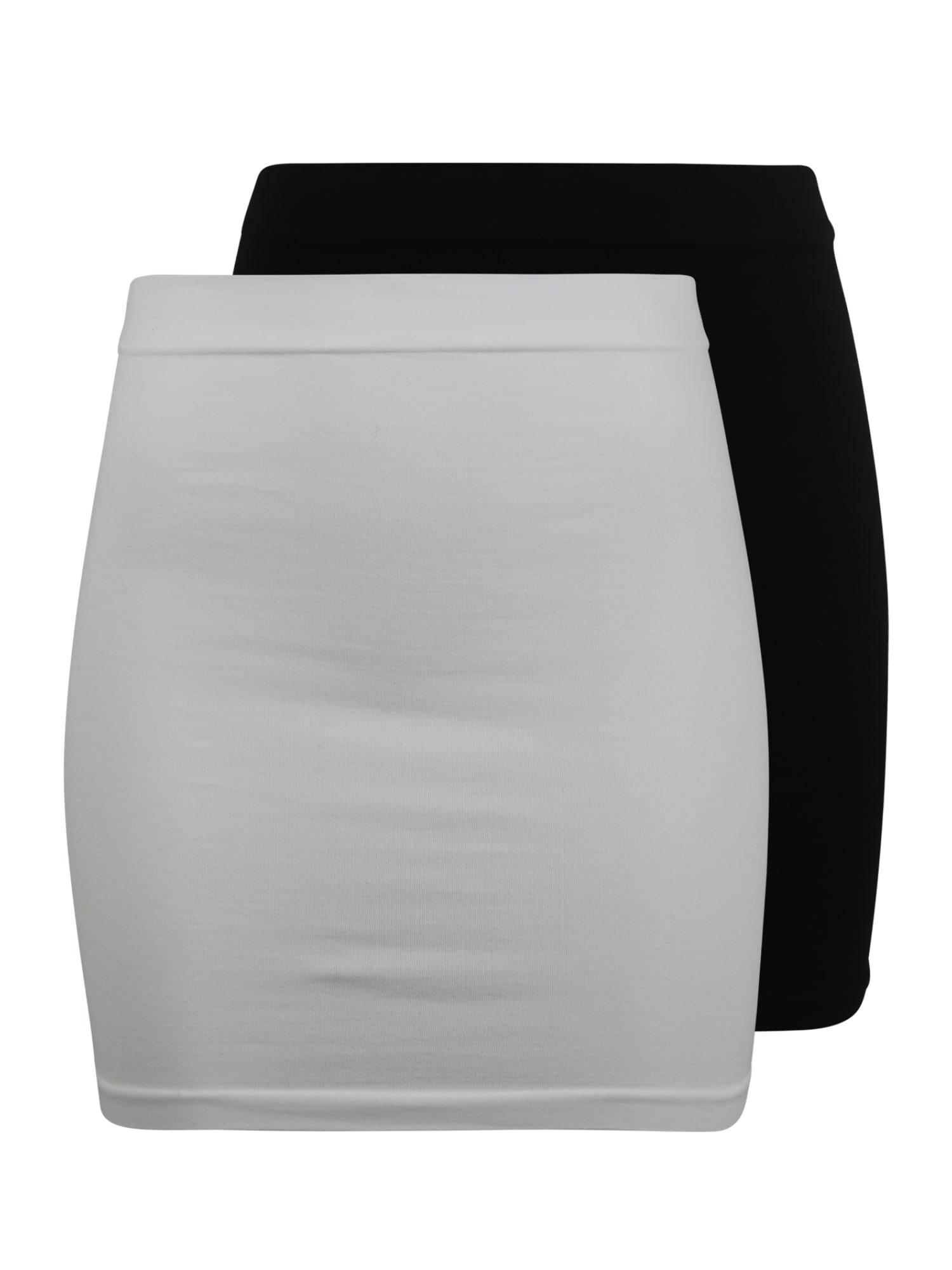 Bauchband 'MLCARA COTTON BUMPBAND 2-PACK O.' | Bekleidung > Umstandsmode > Bauchbänder | Schwarz - Weiß | Mamalicious