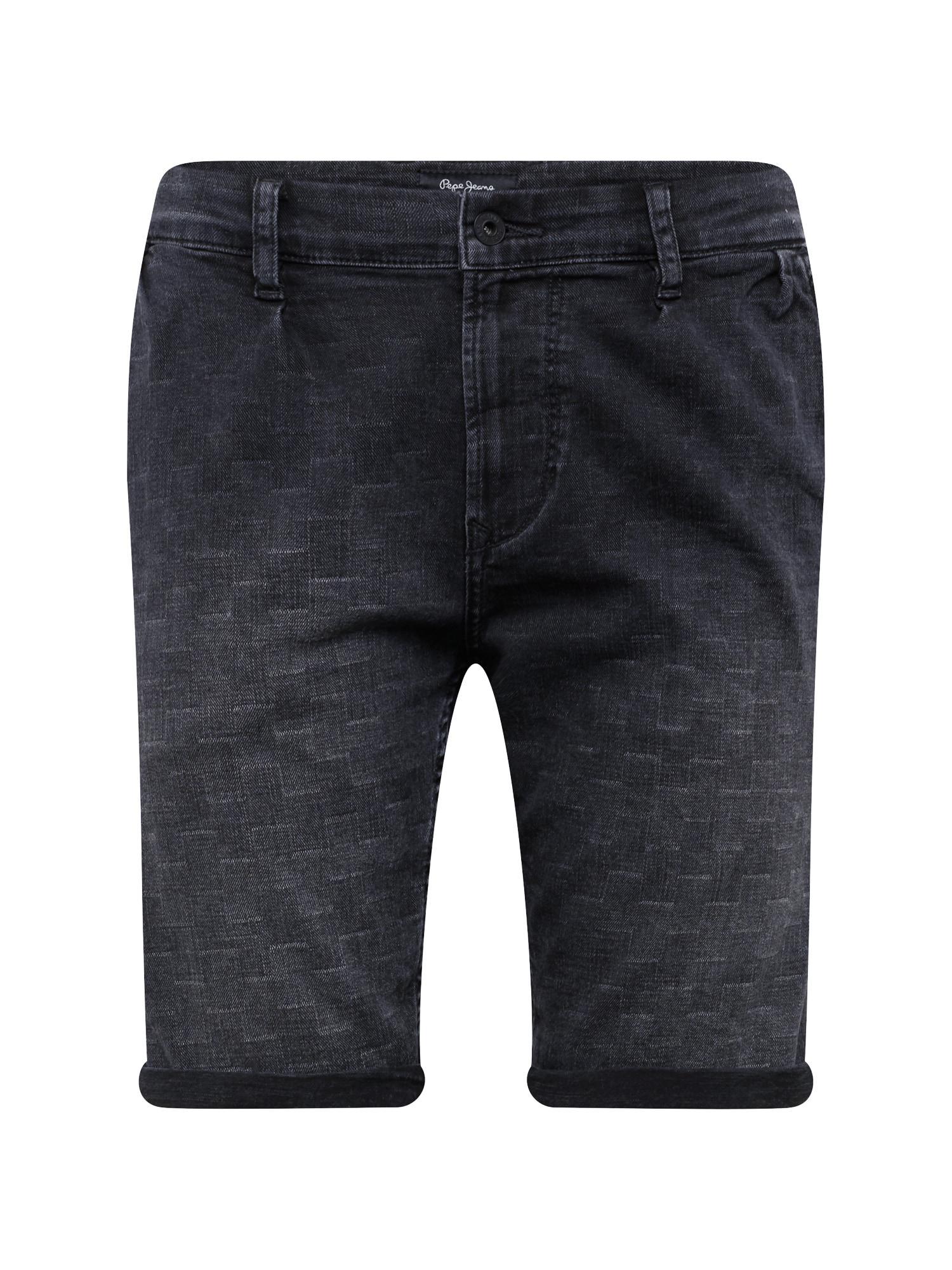Džíny NOAH SHORT CHECKERED černá džínovina Pepe Jeans