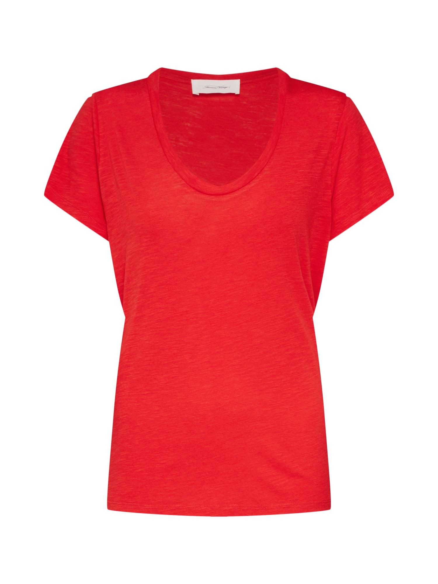 Tričko JAC48H19 světle červená AMERICAN VINTAGE