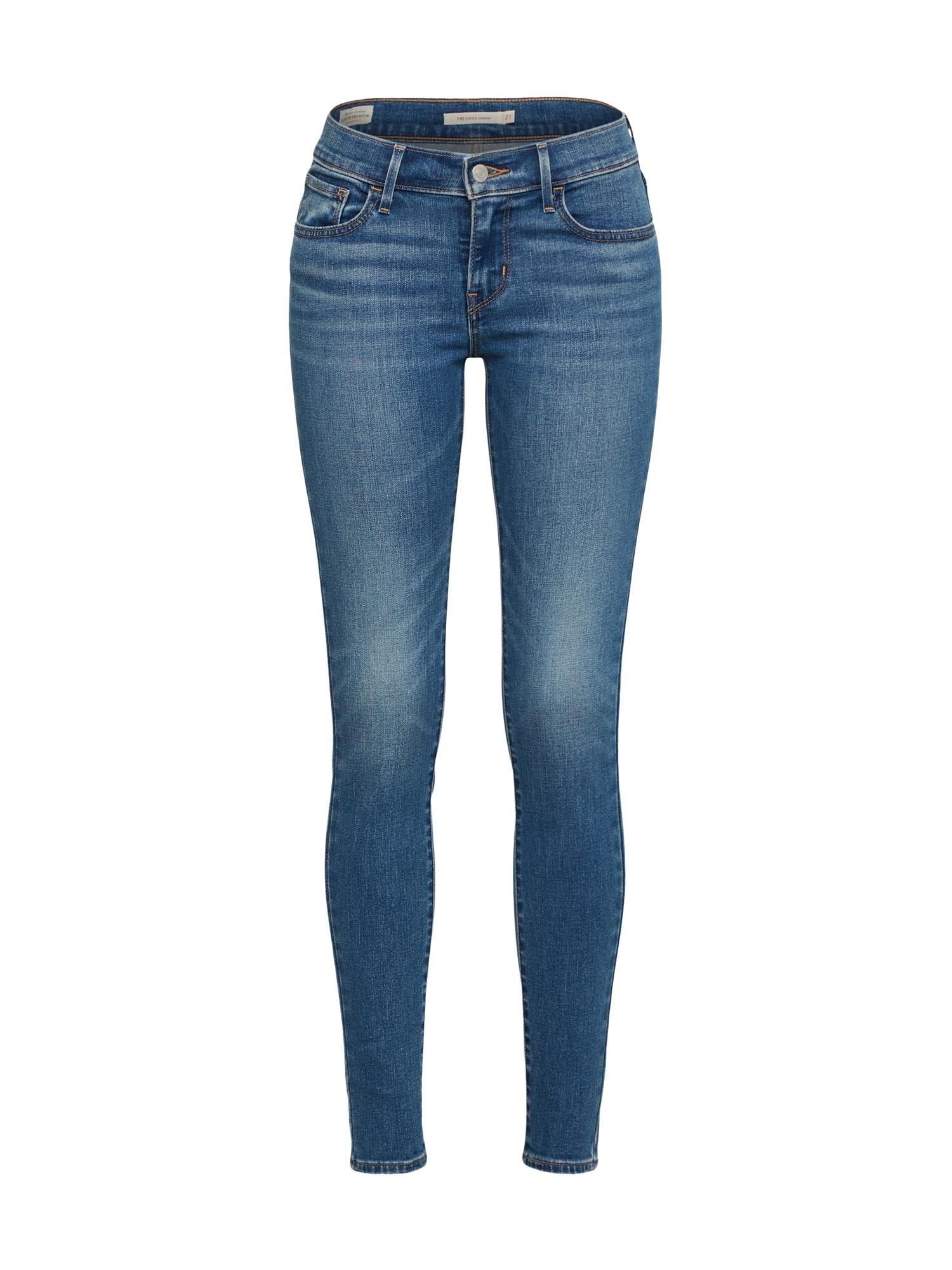 LEVI'S Dames Jeans 710 SUPER SKINNY blauw denim