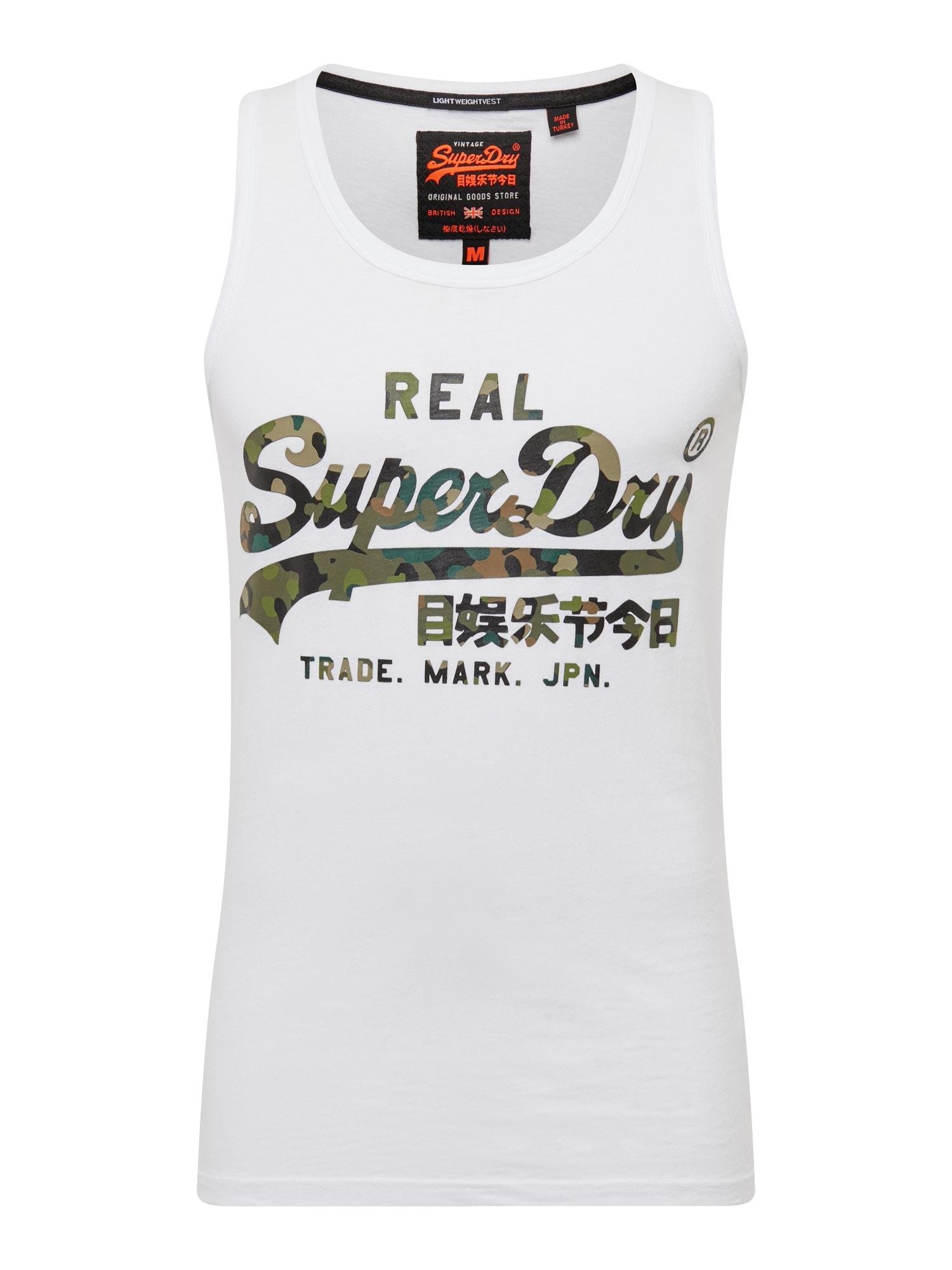 Tričko zelená bílá Superdry