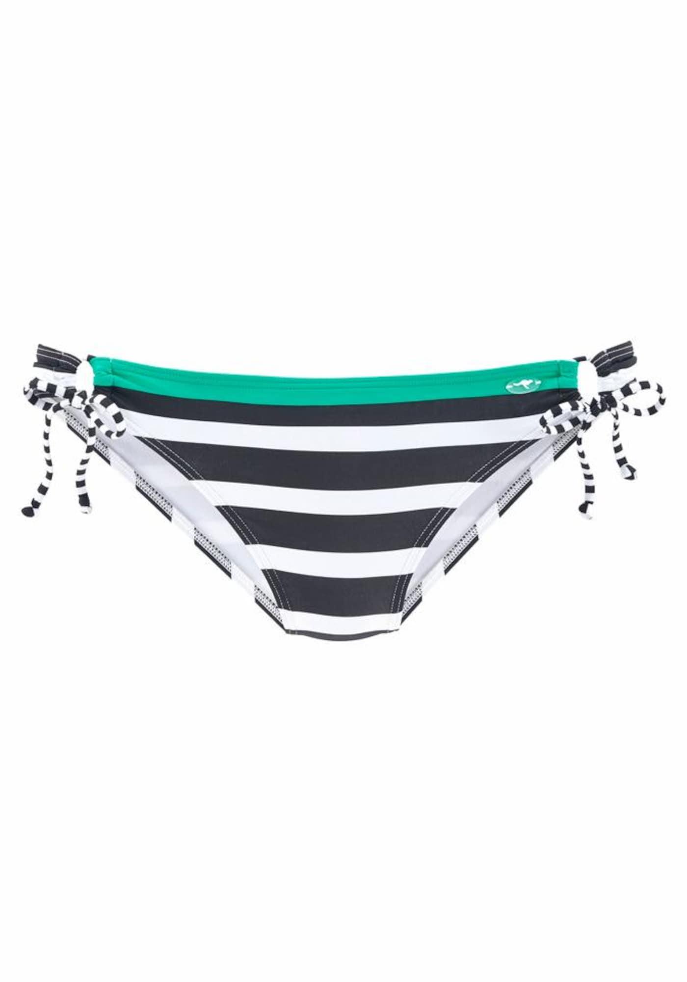 KangaROOS, Dames Bikinibroek, jade groen / zwart / wit