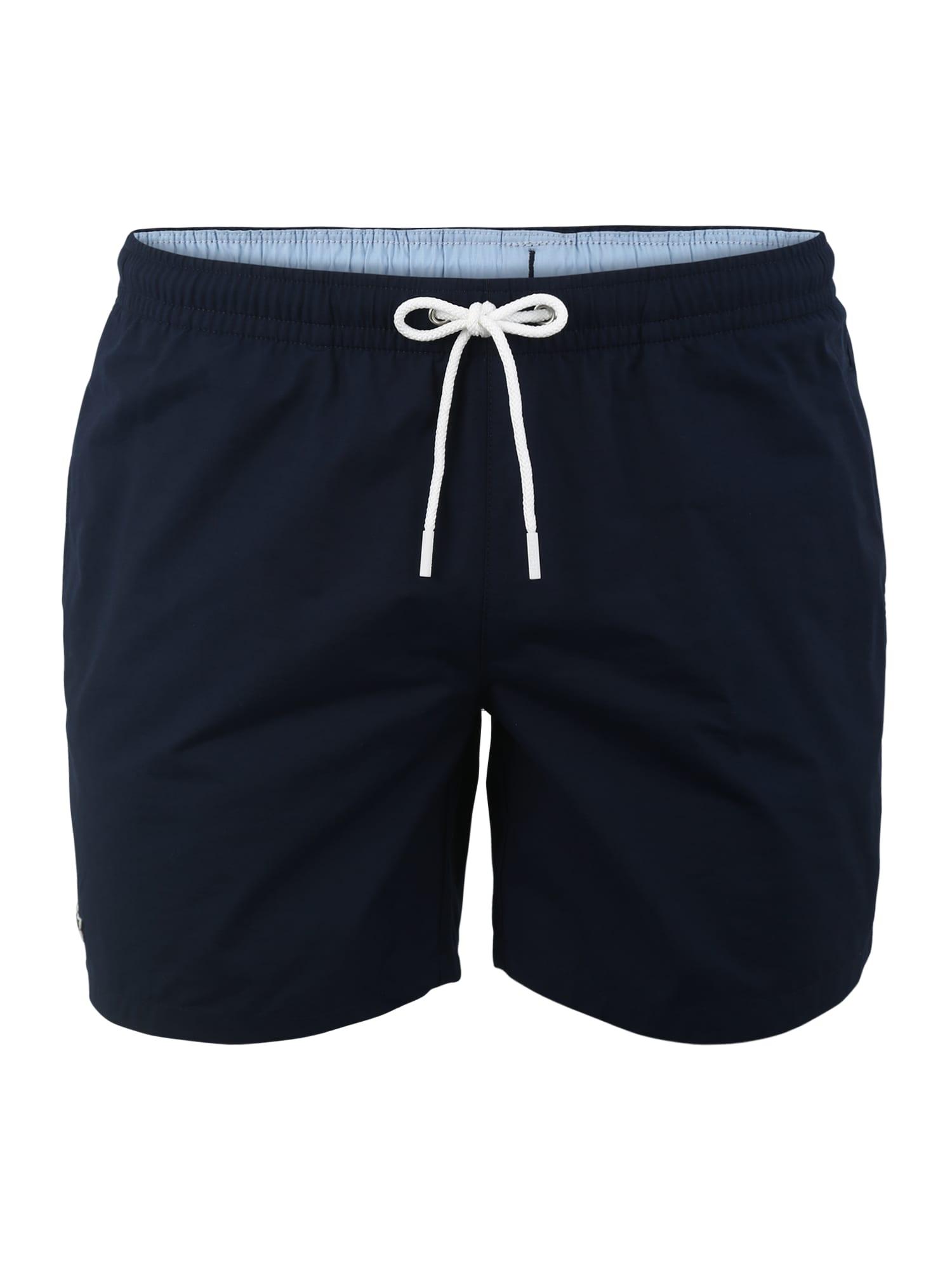 Plavecké šortky marine modrá LACOSTE