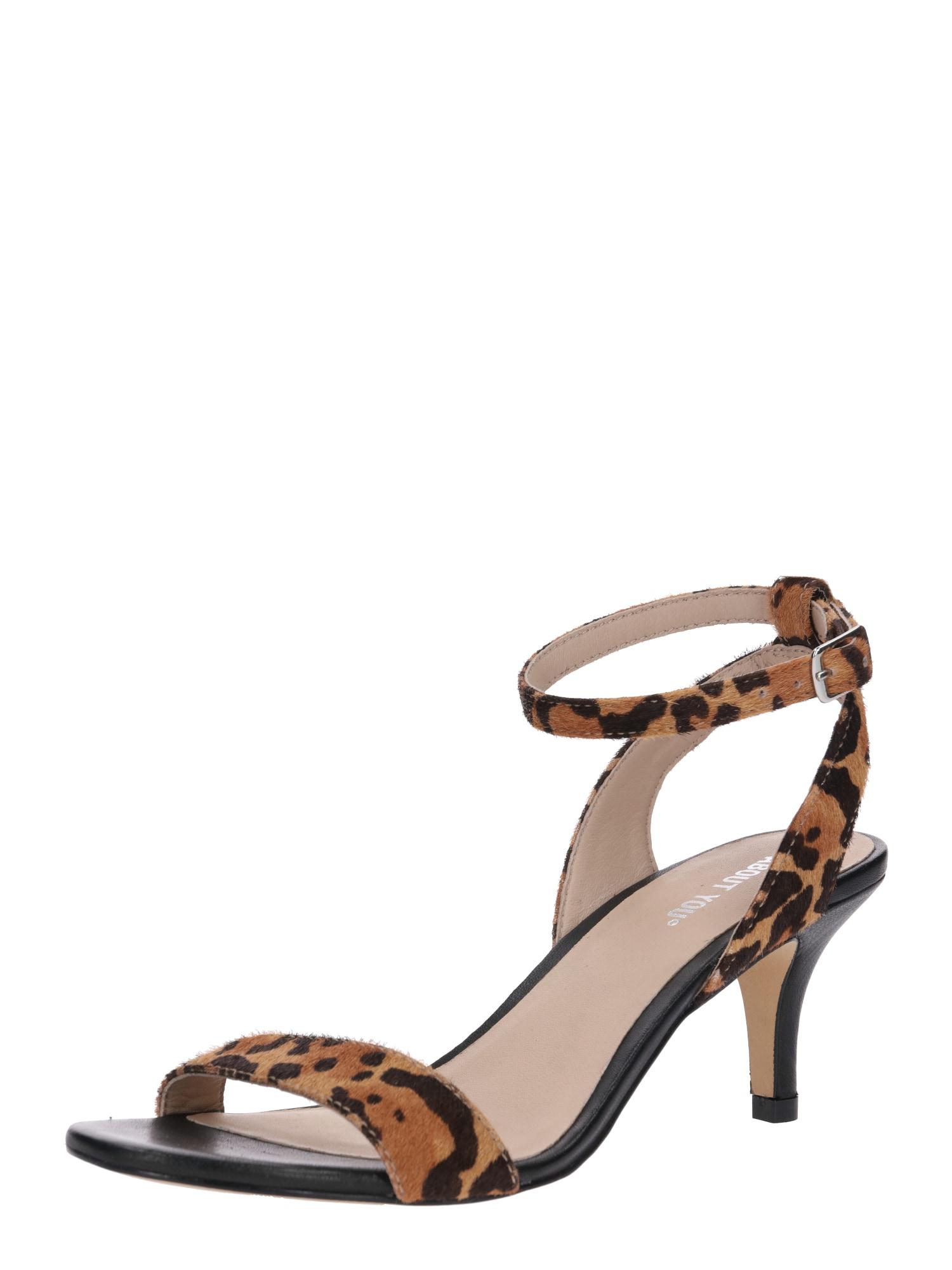 Páskové sandály Yasmina hnědá ABOUT YOU
