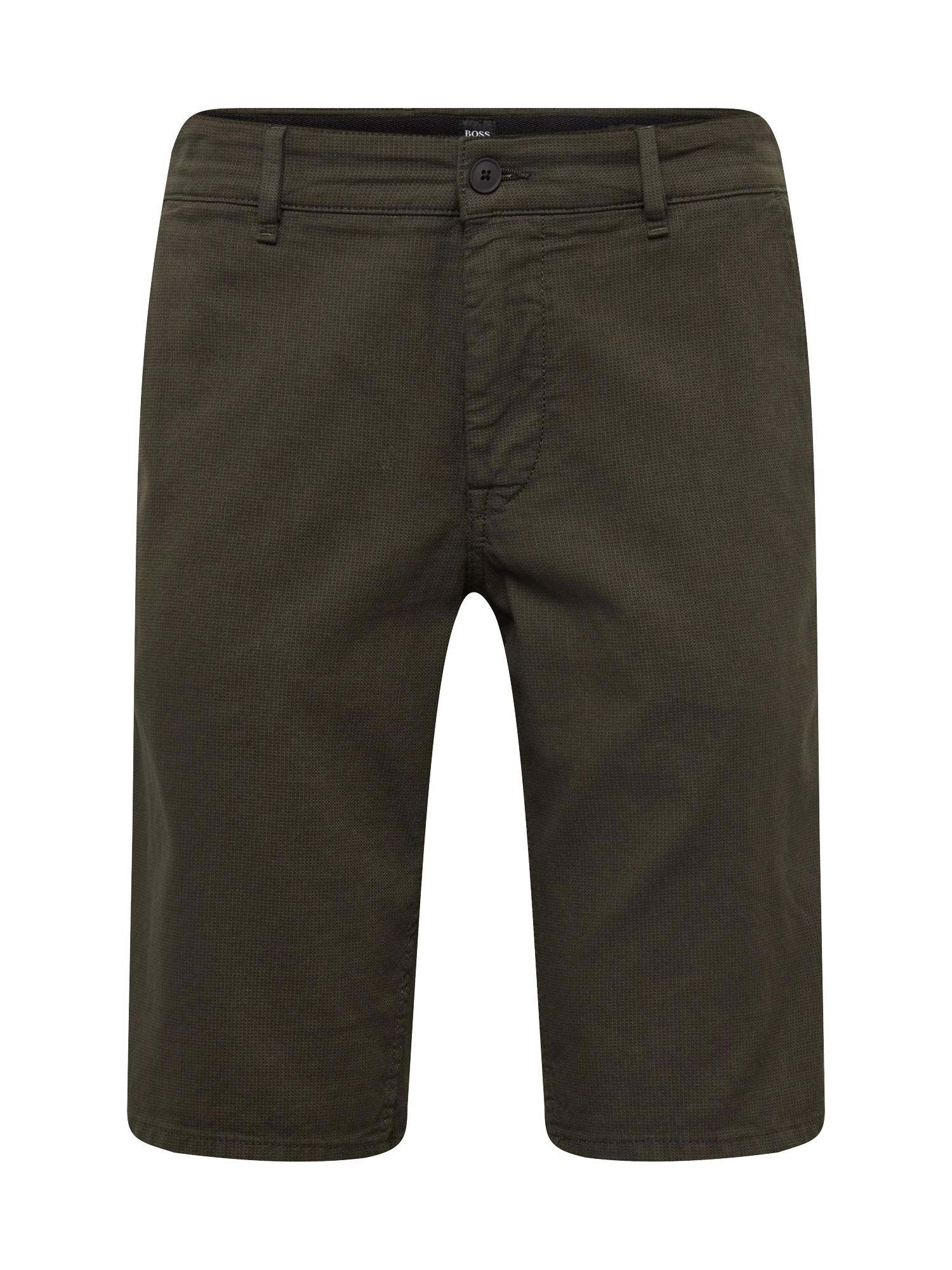 Chino kalhoty tmavě zelená BOSS