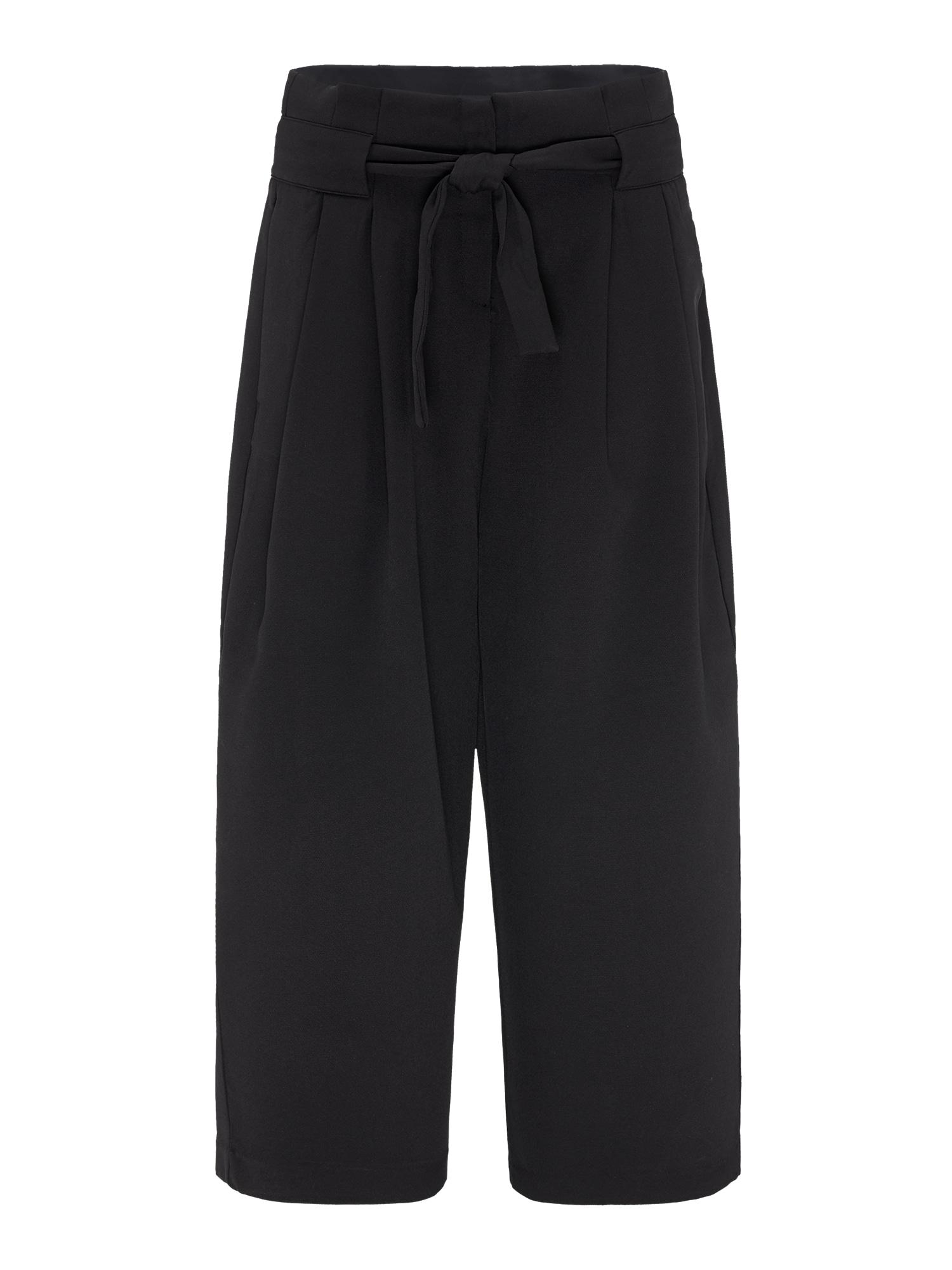 Kalhoty se sklady v pase ODINA černá BROADWAY NYC FASHION