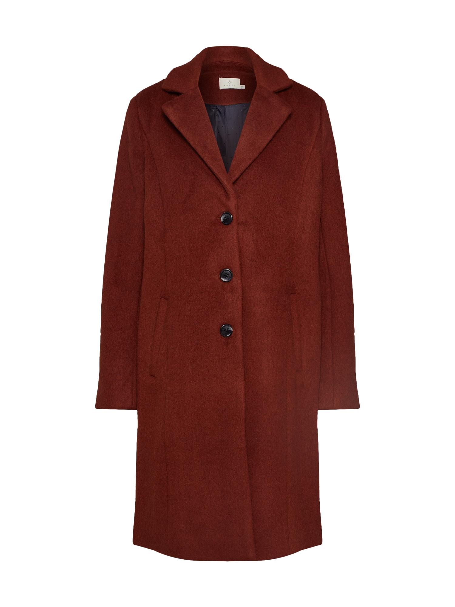 Přechodný kabát Amissi rezavě hnědá červená Kaffe
