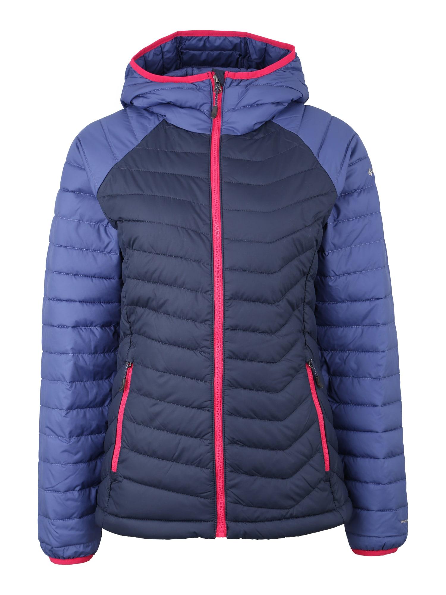 Outdoorová bunda Powder Lite modrá tmavě modrá červená COLUMBIA