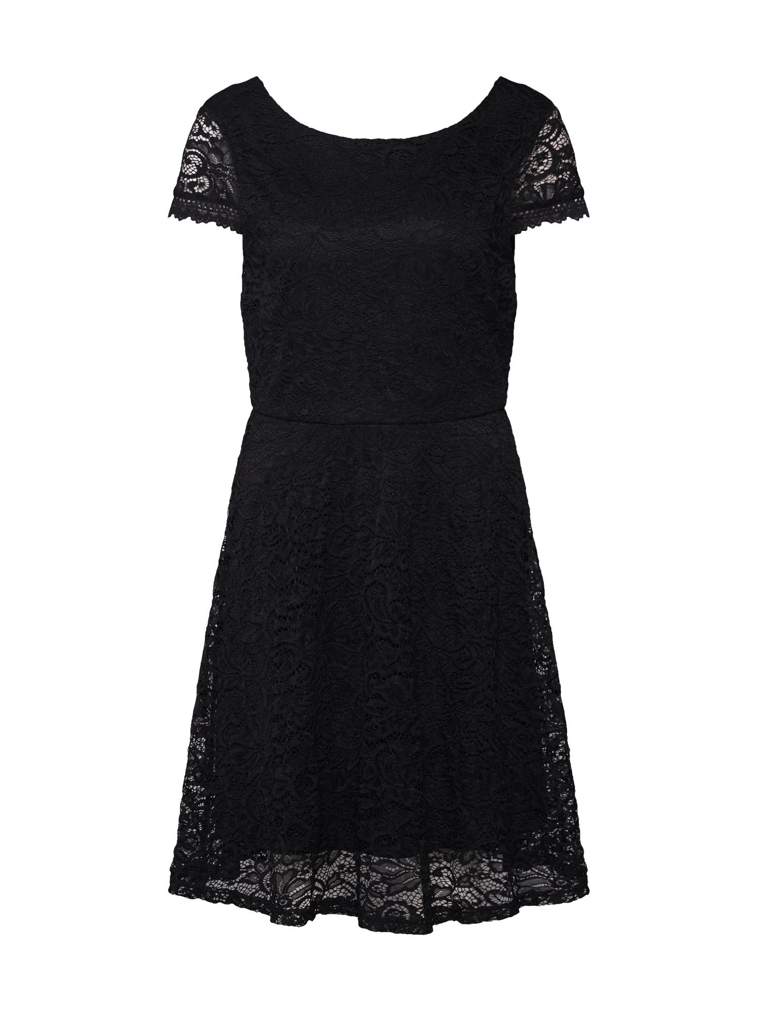 Šaty VMSASSA CAPSL SHORT DRESS BOO JRS černá VERO MODA