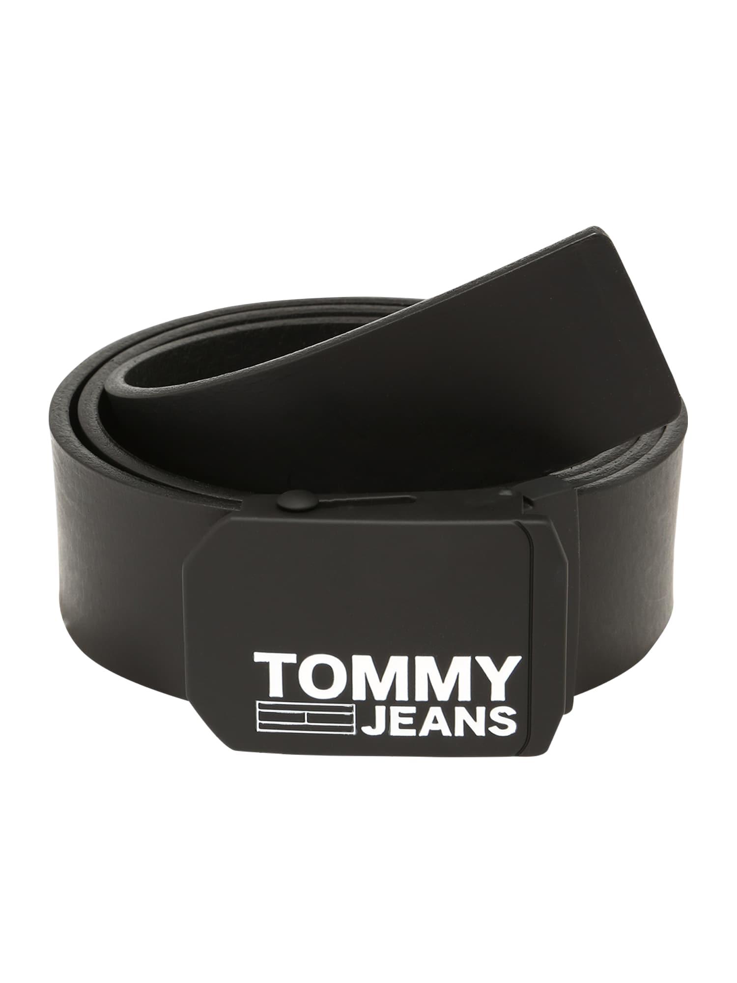 Opasek TJM PLAQUE LEATHER BELT 4.0 černá Tommy Jeans