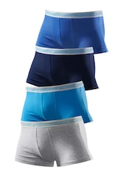 Baumwoll-Boxer, Authentic Underwear (4 Stck.)