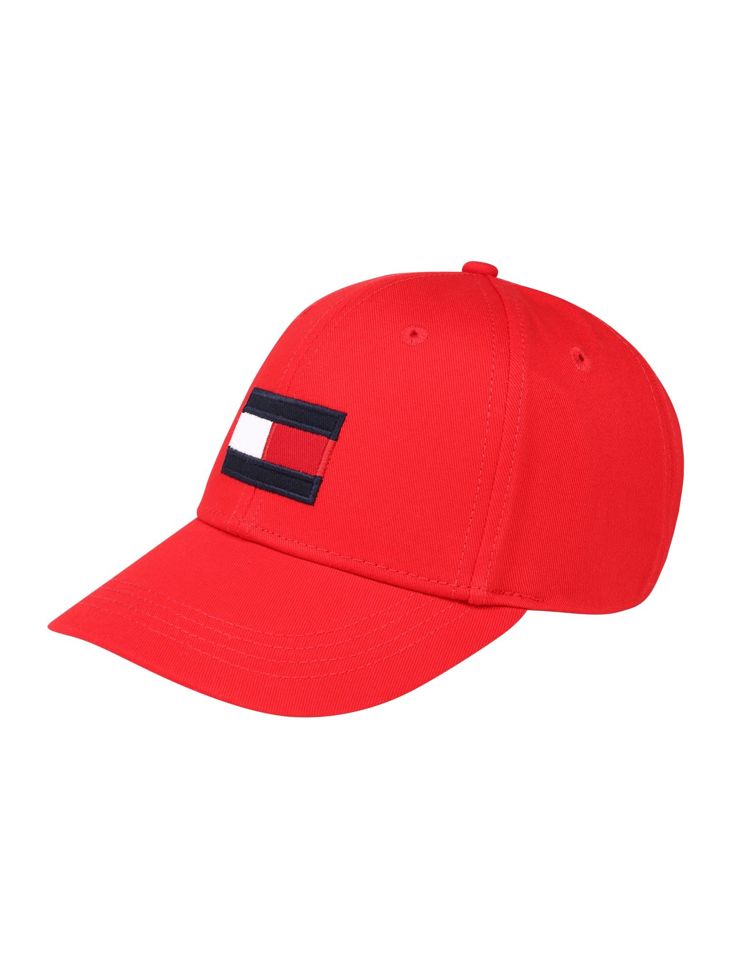 TOMMY HILFIGER Čiapky 'BIG FLAG CAP' červené