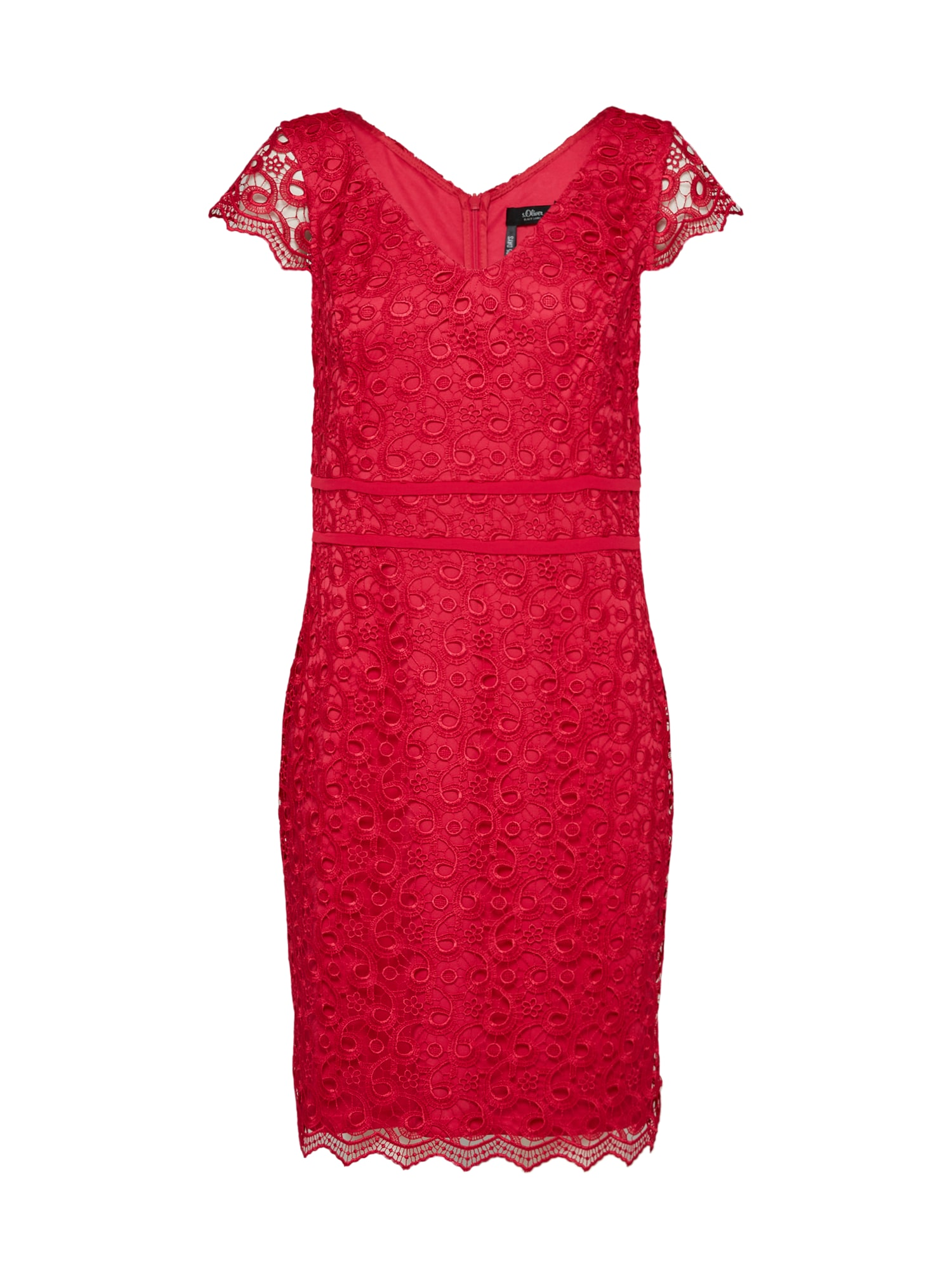 S.Oliver BLACK LABEL Sukienka koktajlowa  ognisto-czerwony