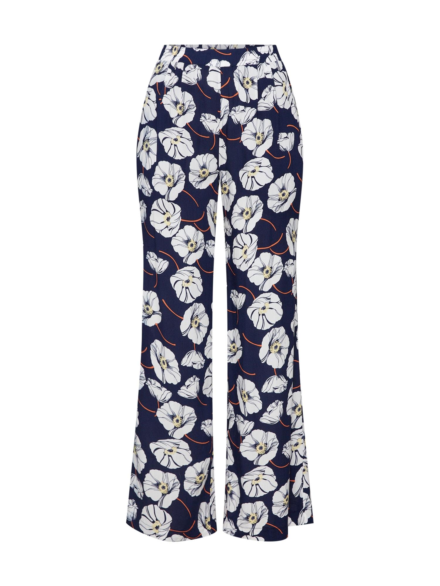 Kalhoty se sklady v pase TIDA námořnická modř oranžová bílá Sparkz