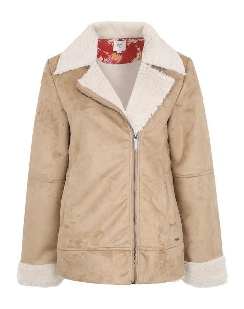 Stylisch gekleidet durch die Übergangszeit: Billabong bringt Dir mit ´Motopalm´ die perfekte Jacke für kühle Tage. Sie ist kuschelweich und liegt mit ihrem Fell-Look total im Trend.