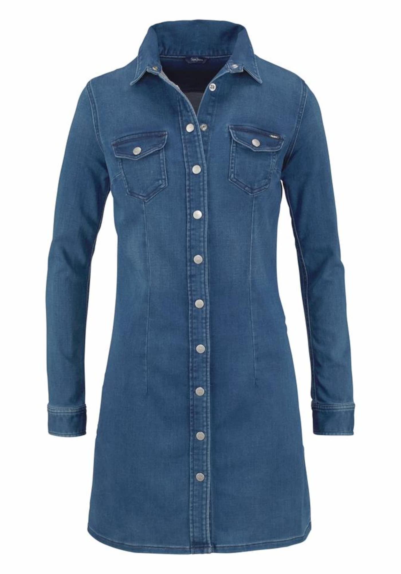 Pepe Jeans Dames Blousejurk CINDY blue denim