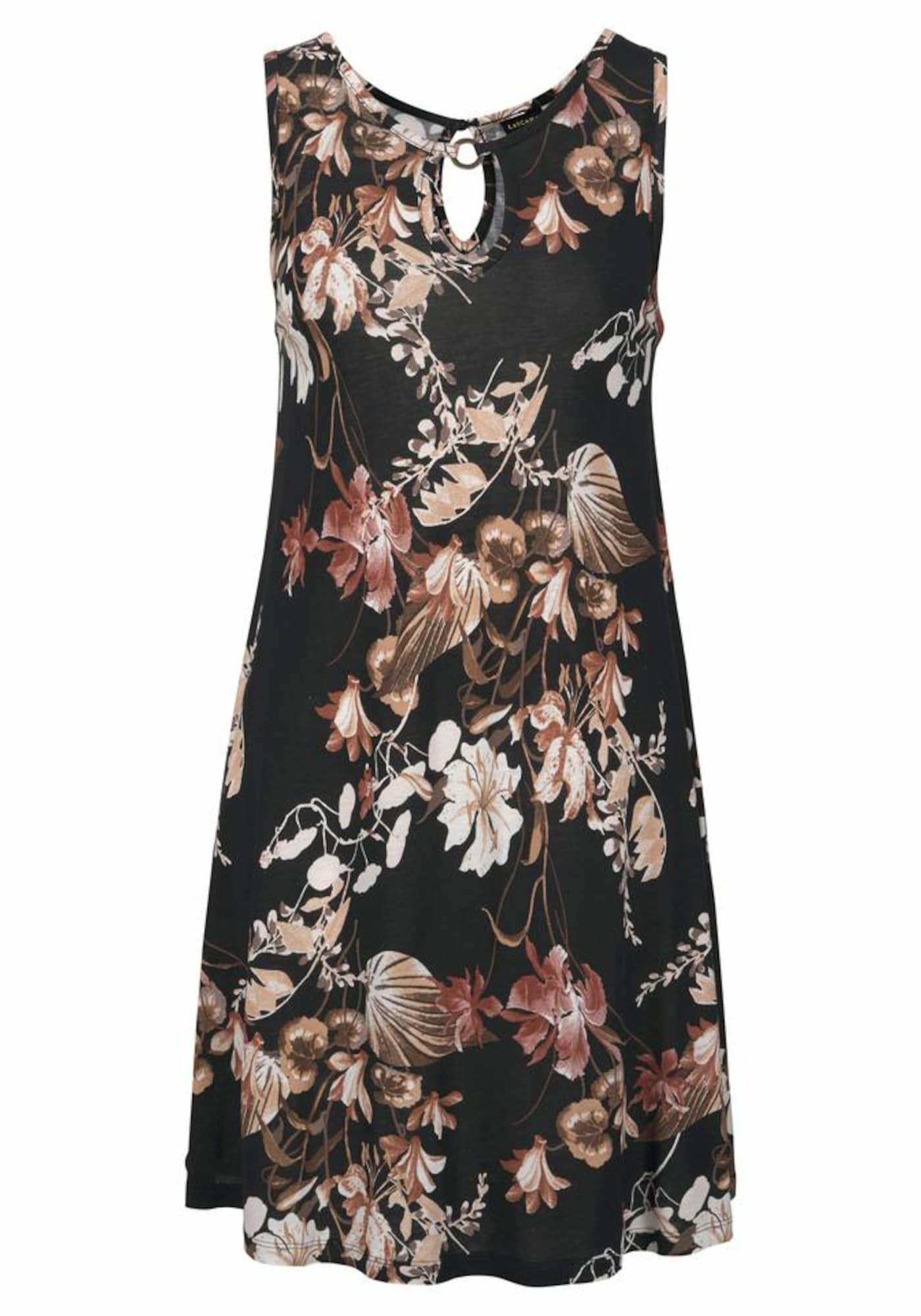 Plážové šaty mix barev černá LASCANA