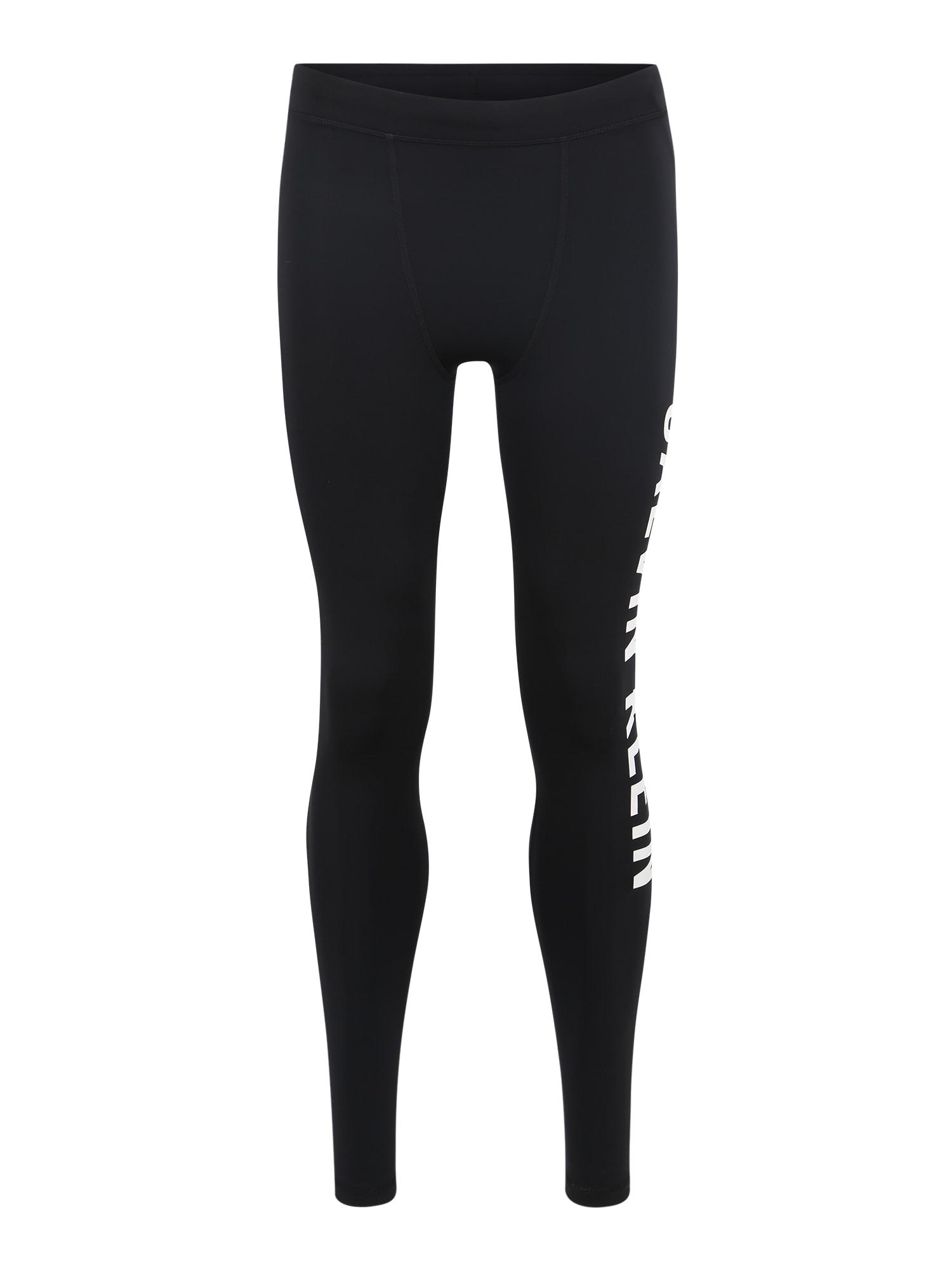 Sportovní kalhoty černá bílá Calvin Klein Performance
