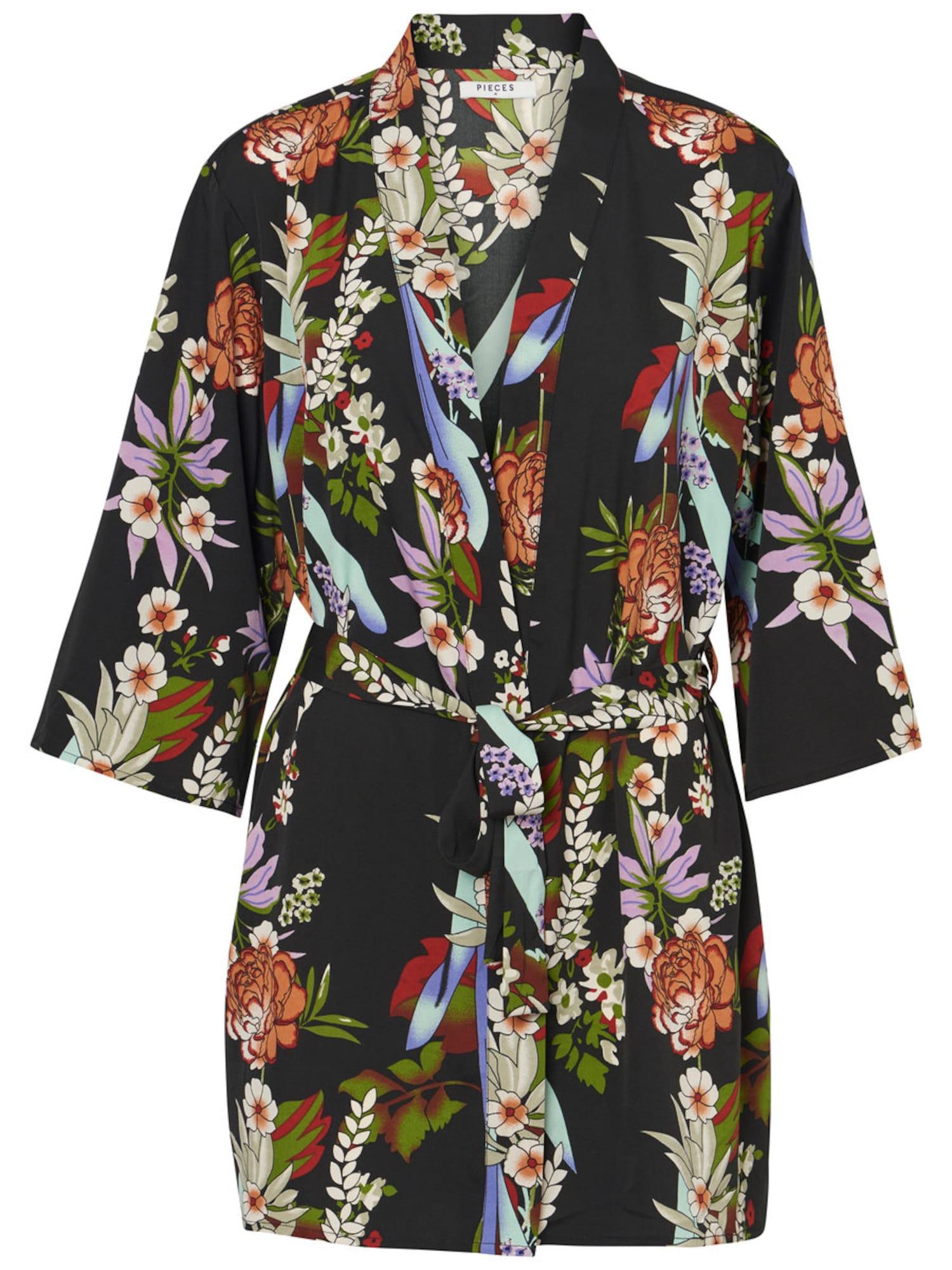 PIECES Bedrukte Kimono Dames Zwart