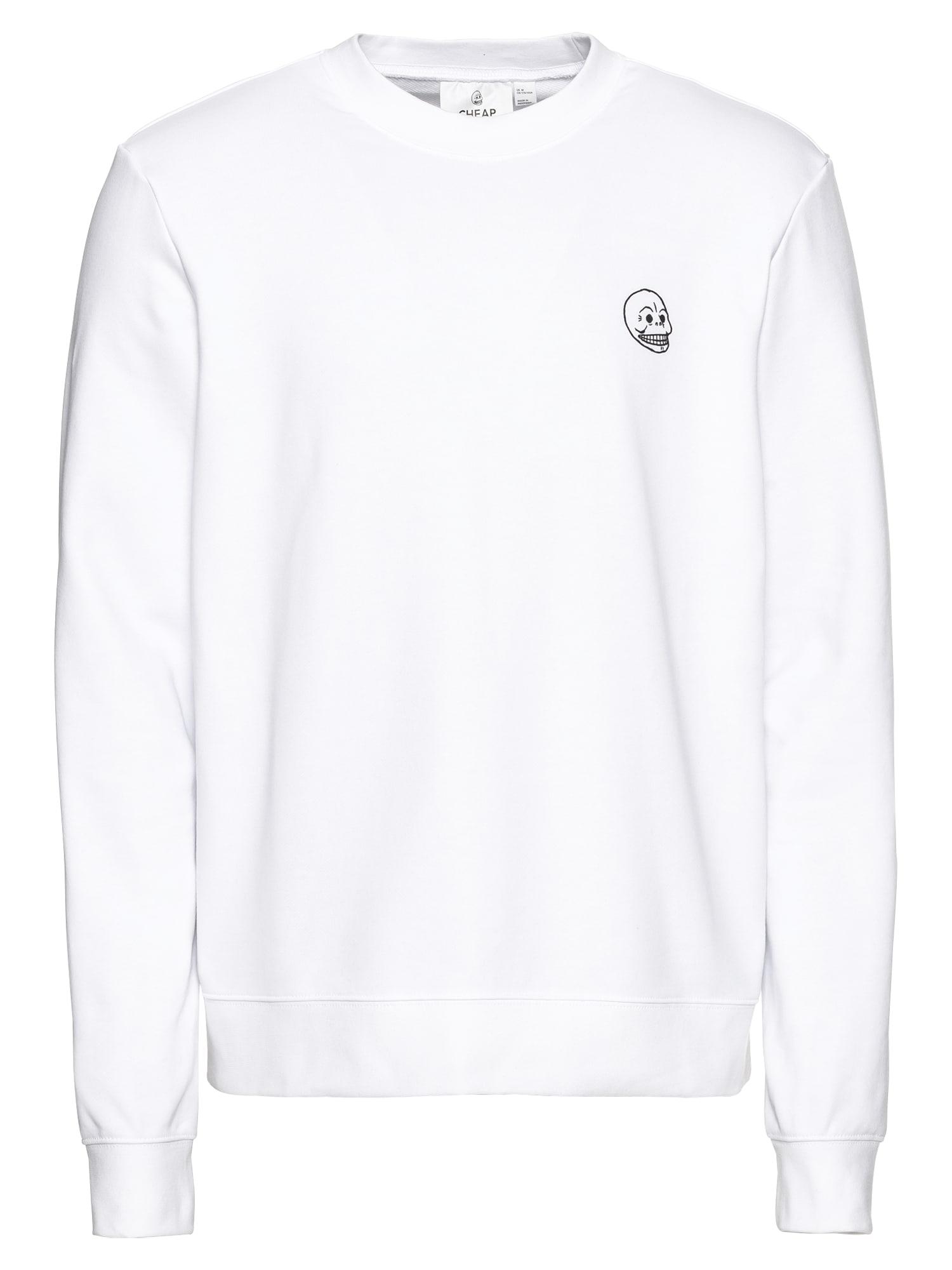 CHEAP MONDAY Heren Sweatshirt Worth sweat Tiny skull wit