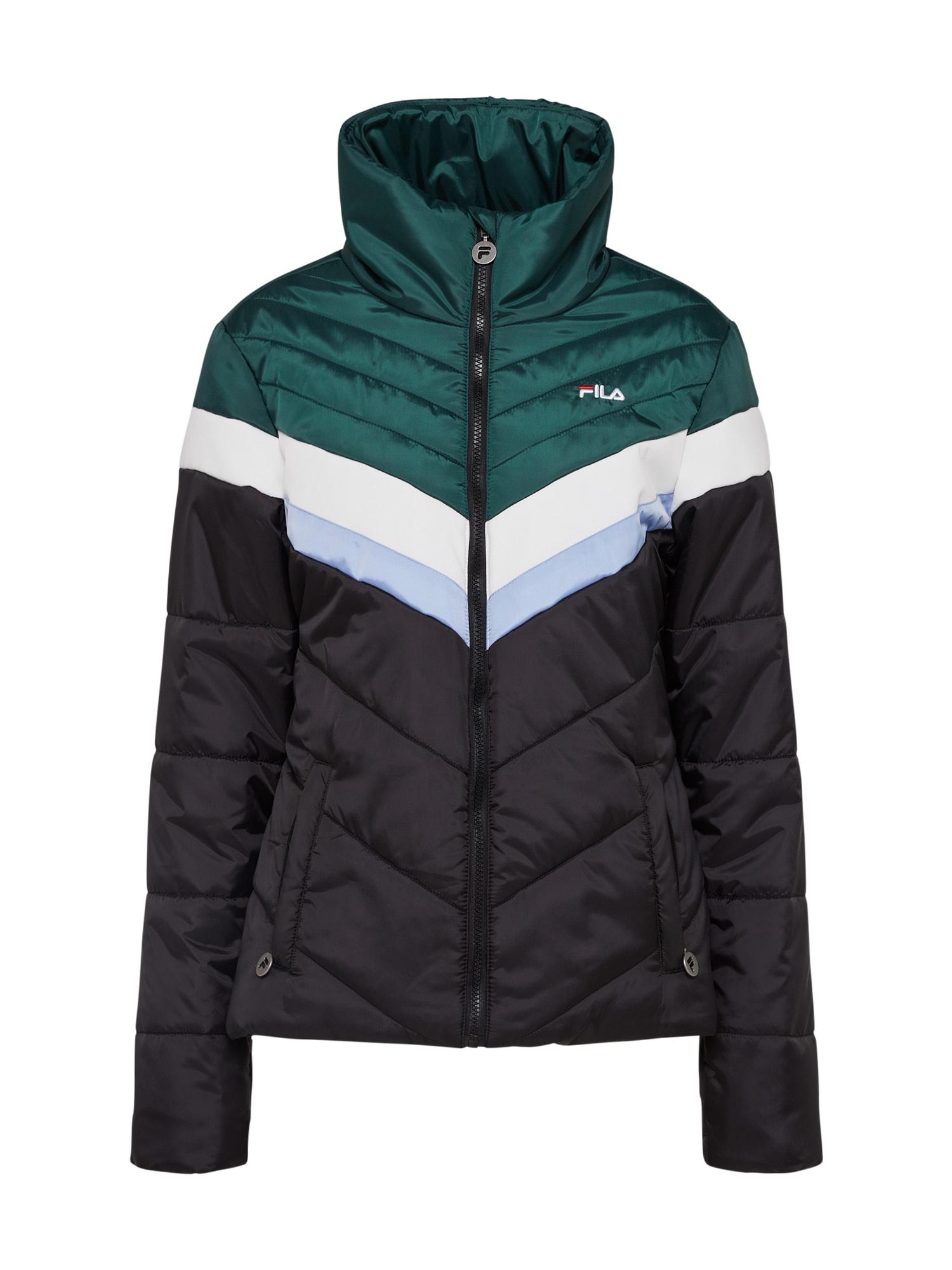 FILA Prechodná bunda 'NANDA'  zelená / čierna