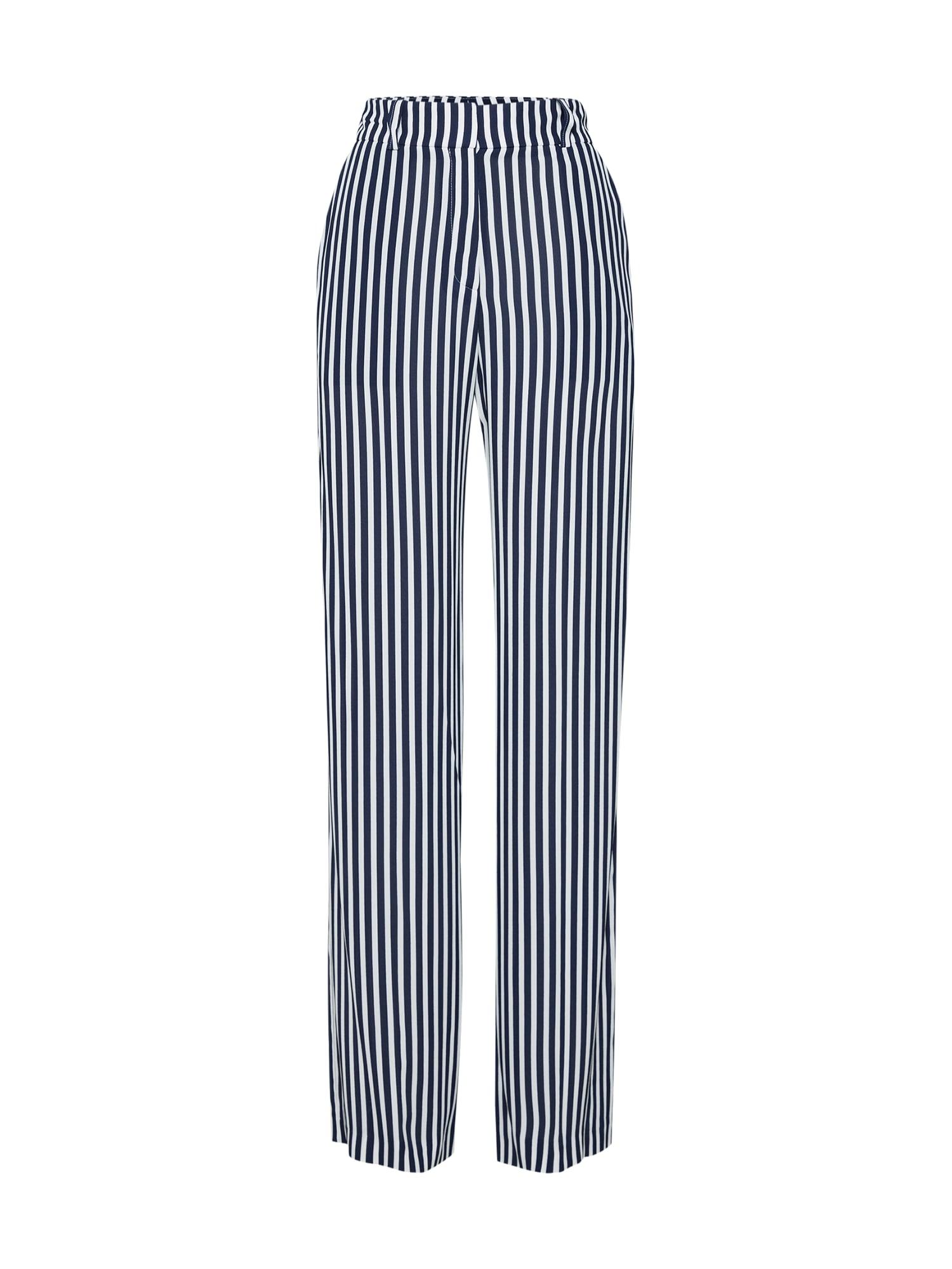 Kalhoty Hatessi námořnická modř bílá HUGO
