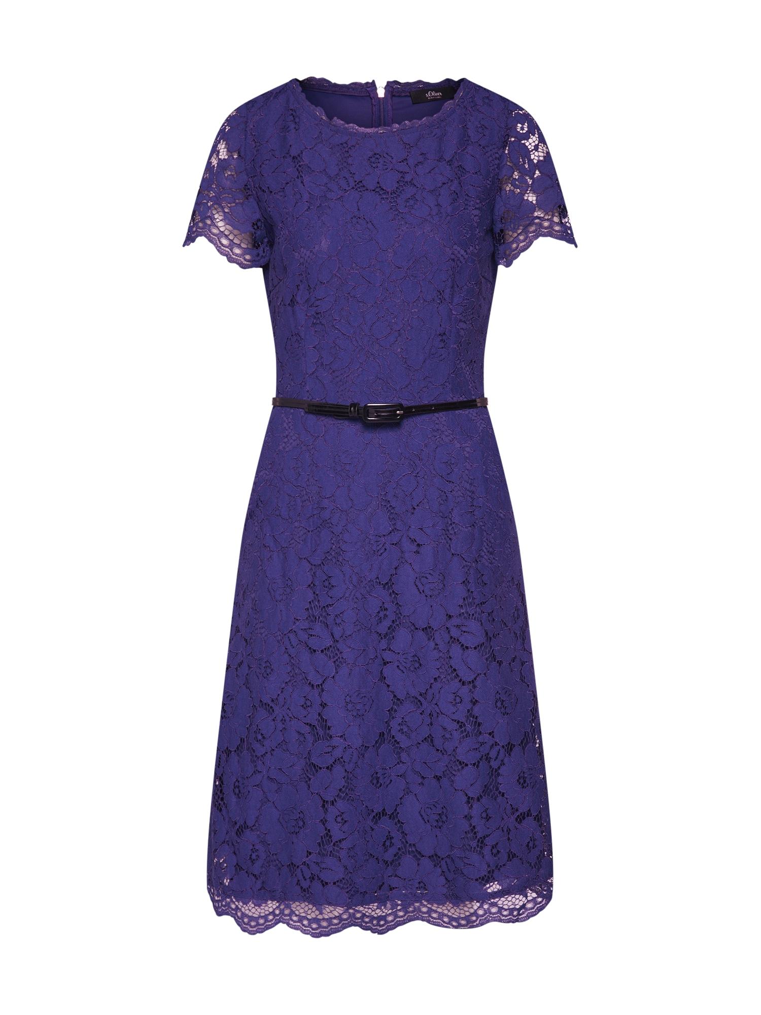 Koktejlové šaty modrá S.Oliver BLACK LABEL