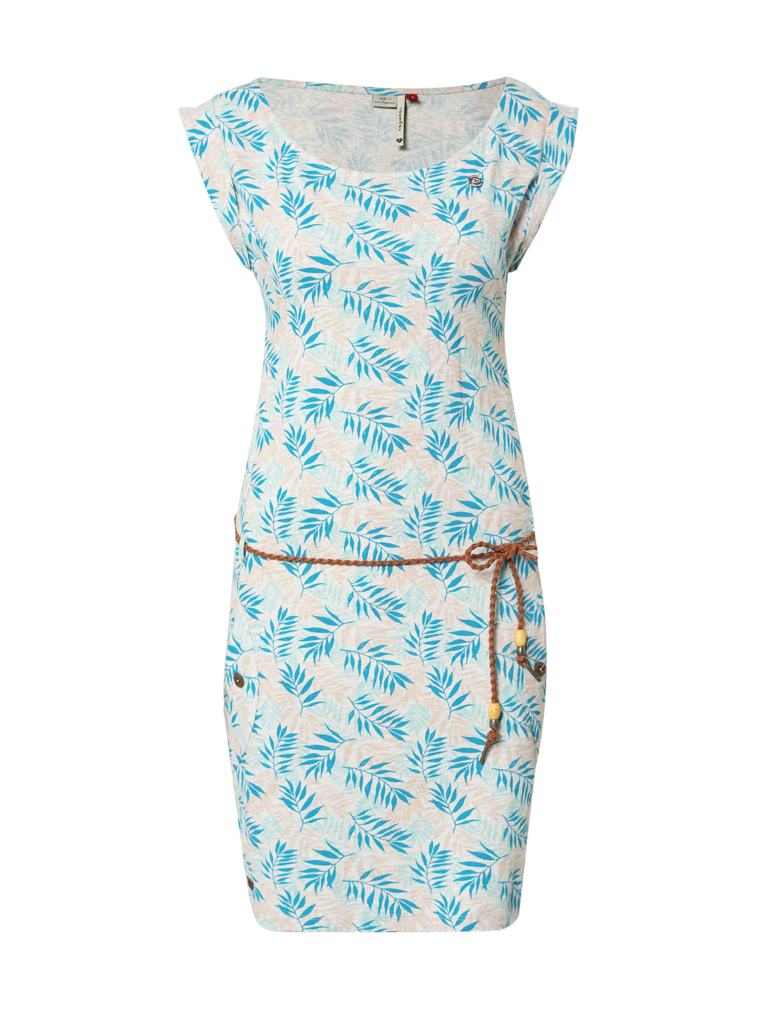 Ragwear Večerné šaty 'TAG LEAVES'  zmiešané farby / biela
