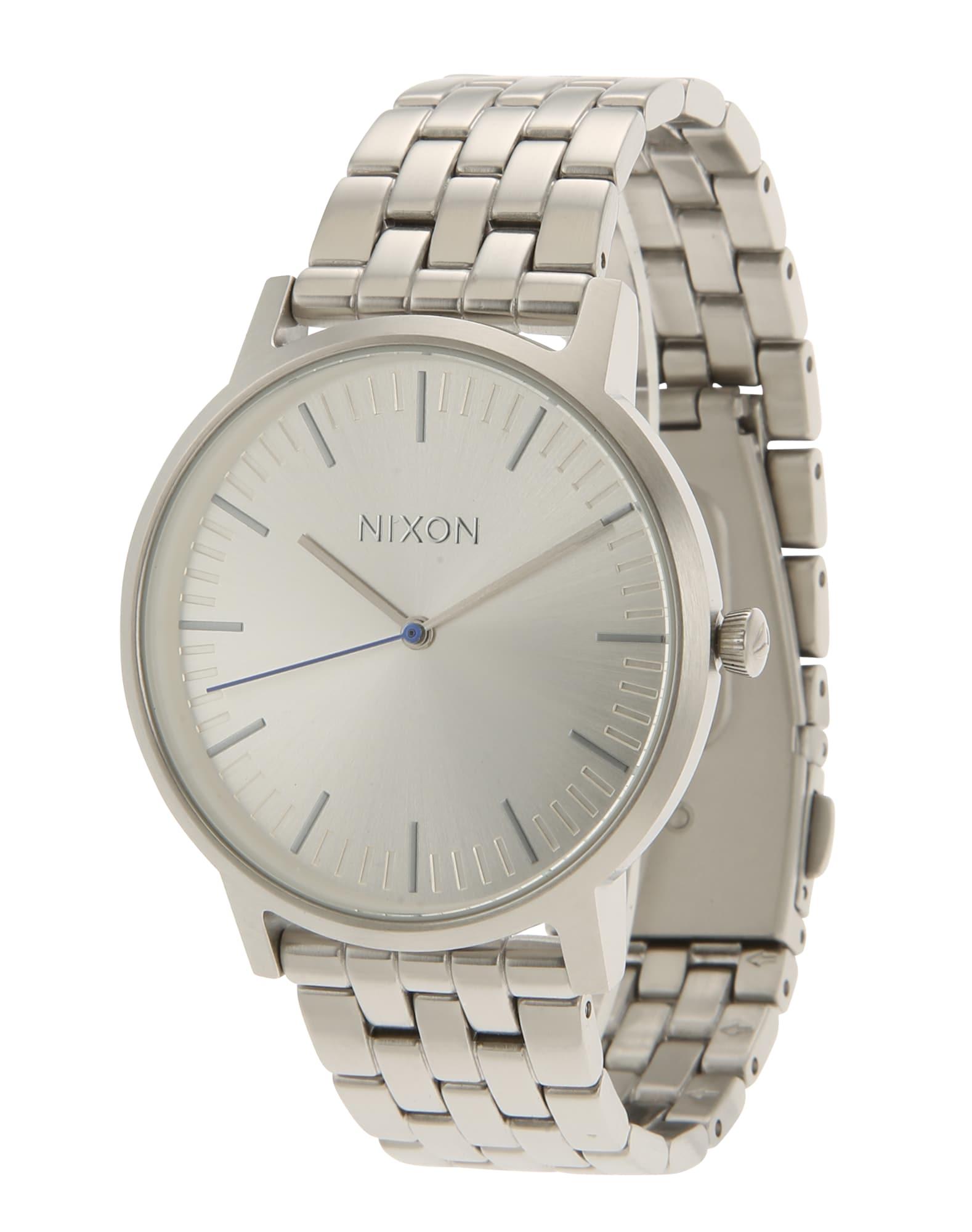 Analogové hodinky Porter stříbrná Nixon
